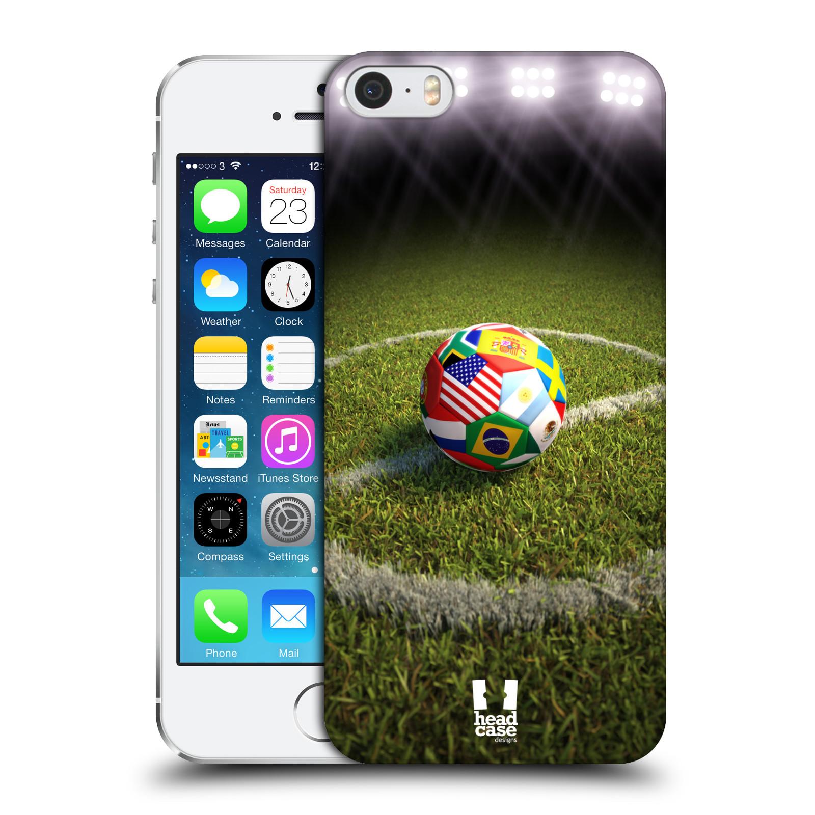 Plastové pouzdro na mobil Apple iPhone SE, 5 a 5S HEAD CASE FOTBALOVÝ MÍČ ZEMÍ