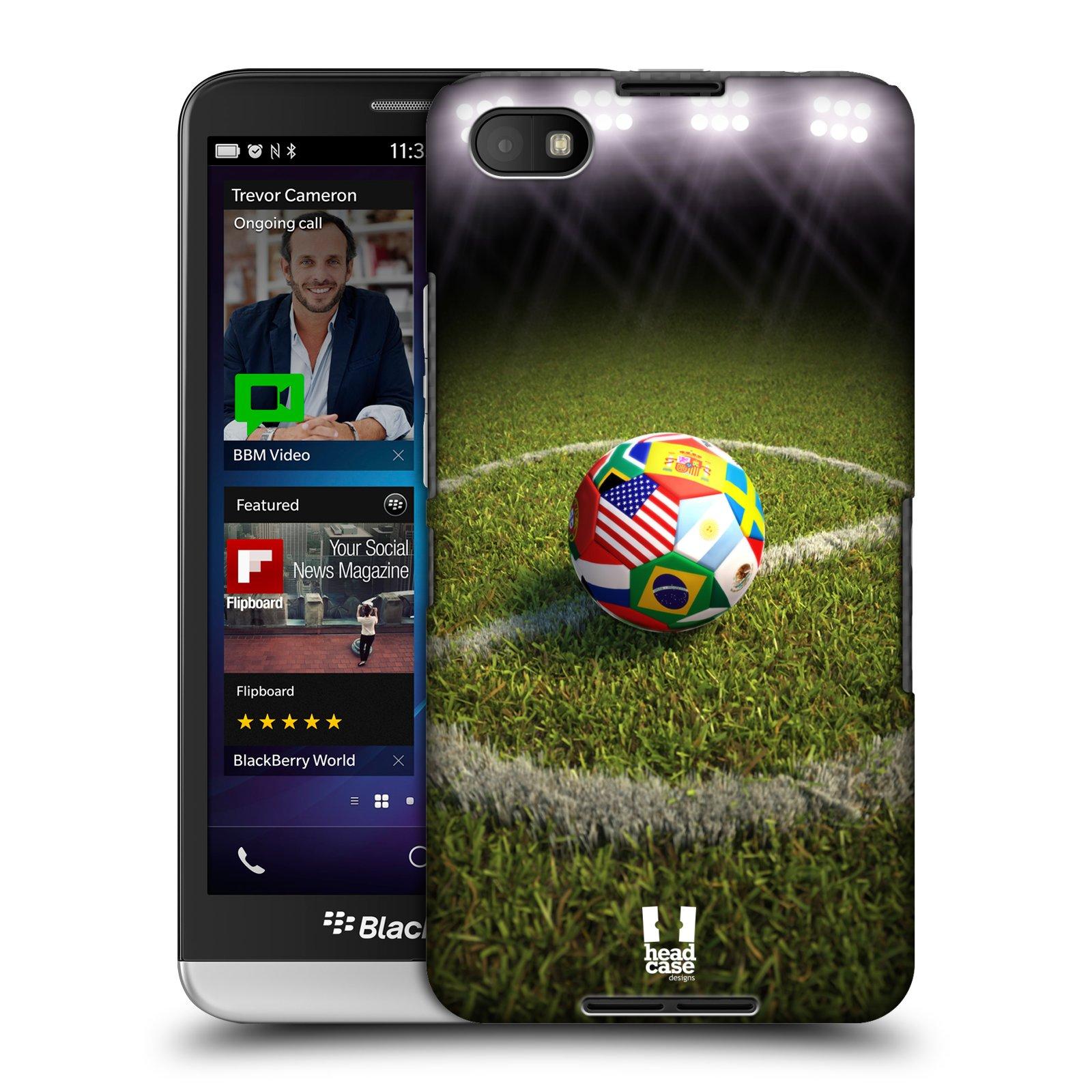 Plastové pouzdro na mobil Blackberry Z30 HEAD CASE FOTBALOVÝ MÍČ ZEMÍ (Kryt či obal na mobilní telefon Blackberry Z30)