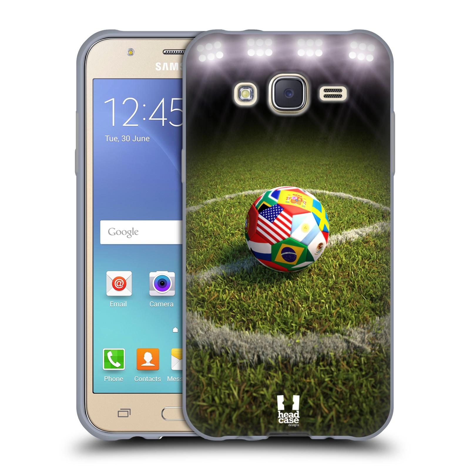 Silikonové pouzdro na mobil Samsung Galaxy J5 HEAD CASE FOTBALOVÝ MÍČ ZEMÍ  (Silikonový kryt či 3463a704e19