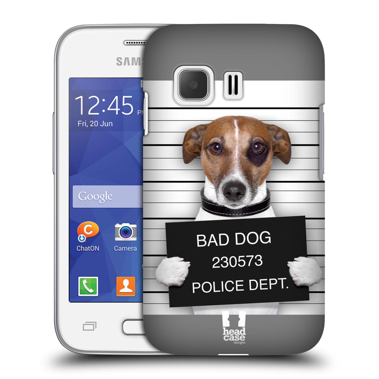 Plastové pouzdro na mobil Samsung Galaxy Young 2 HEAD CASE ZLEJ PEJSEK