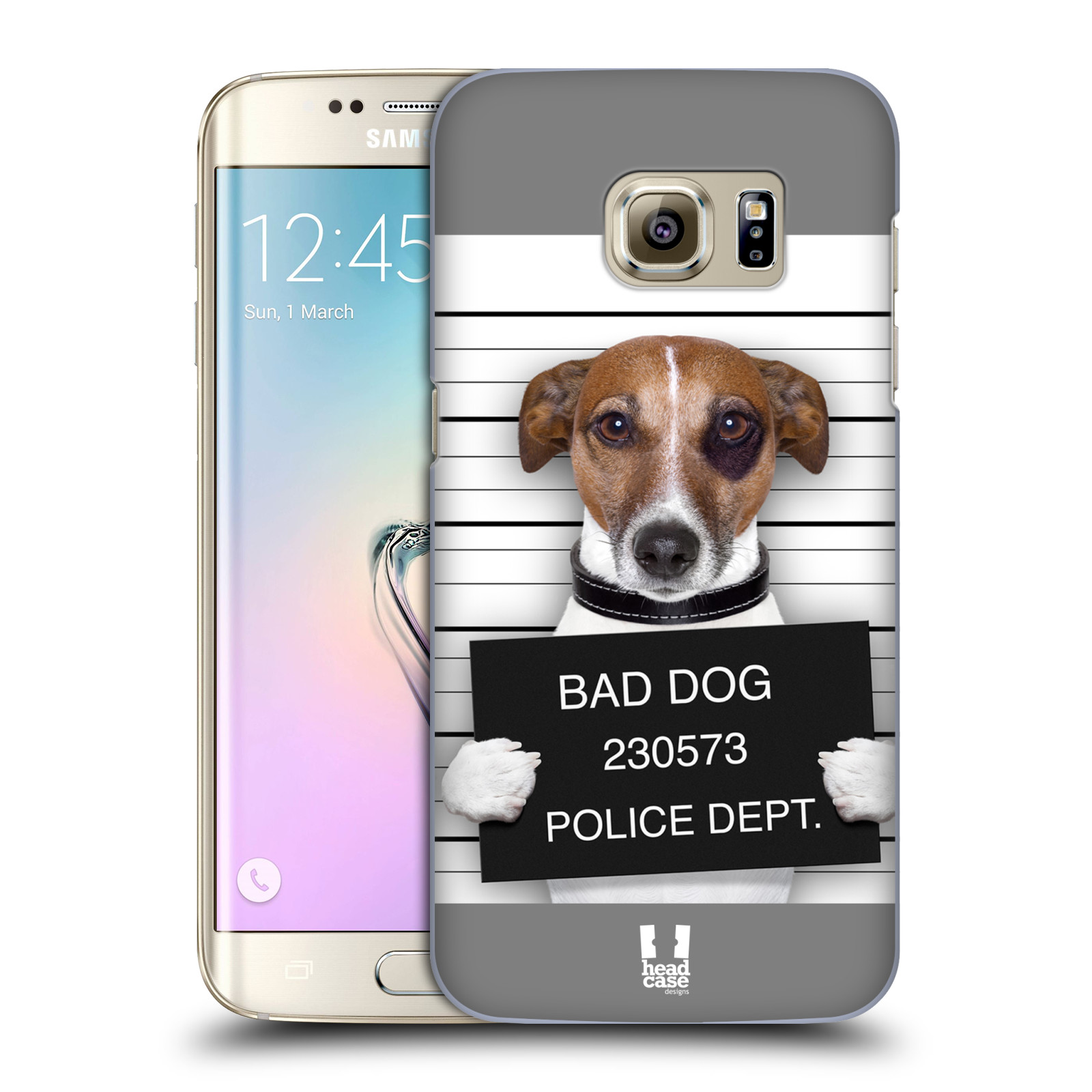 Plastové pouzdro na mobil Samsung Galaxy S7 Edge HEAD CASE ZLEJ PEJSEK (Kryt či obal na mobilní telefon Samsung Galaxy S7 Edge SM-G935F)