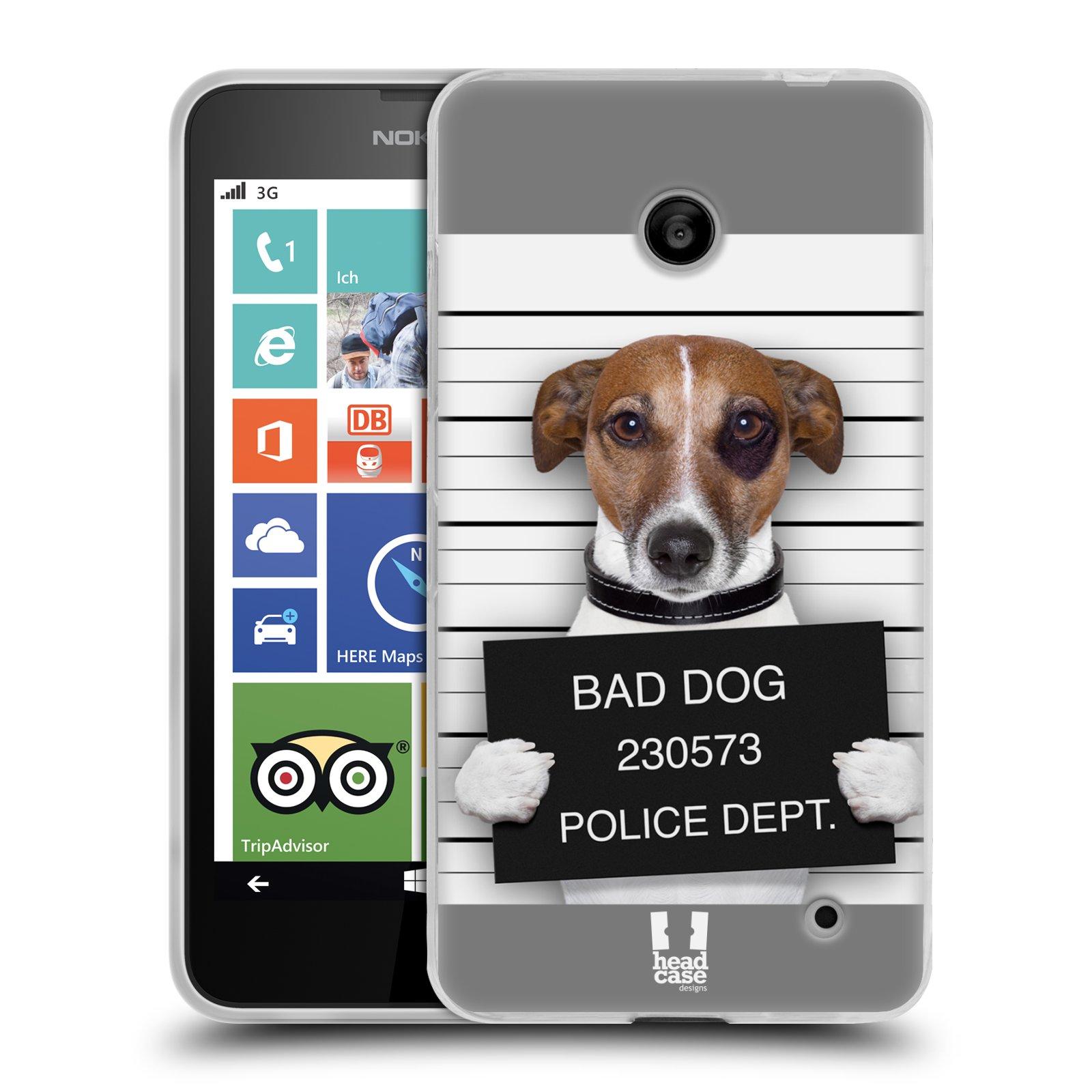 Silikonové pouzdro na mobil Nokia Lumia 630 HEAD CASE ZLEJ PEJSEK (Silikonový kryt či obal na mobilní telefon Nokia Lumia 630 a Nokia Lumia 630 Dual SIM)
