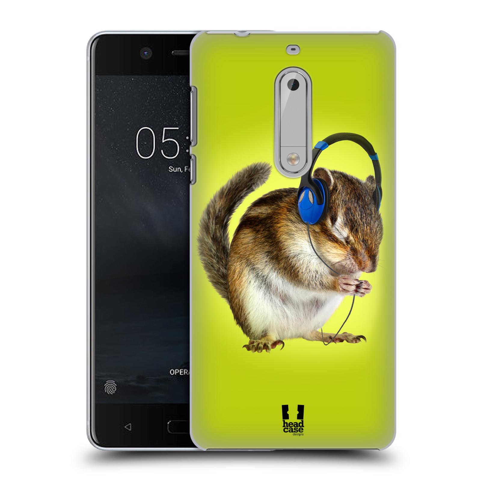 Plastové pouzdro na mobil Nokia 5 Head Case - ZAPOSLOUCHANÁ VEVERKA (Plastový kryt či obal na mobilní telefon Nokia 5 (2017))