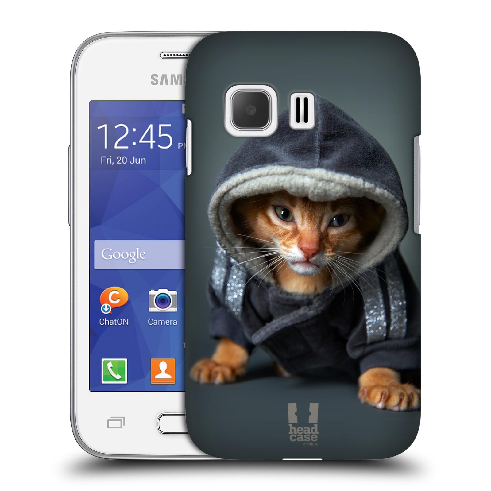 Plastové pouzdro na mobil Samsung Galaxy Young 2 HEAD CASE KOTĚ V MIKČE