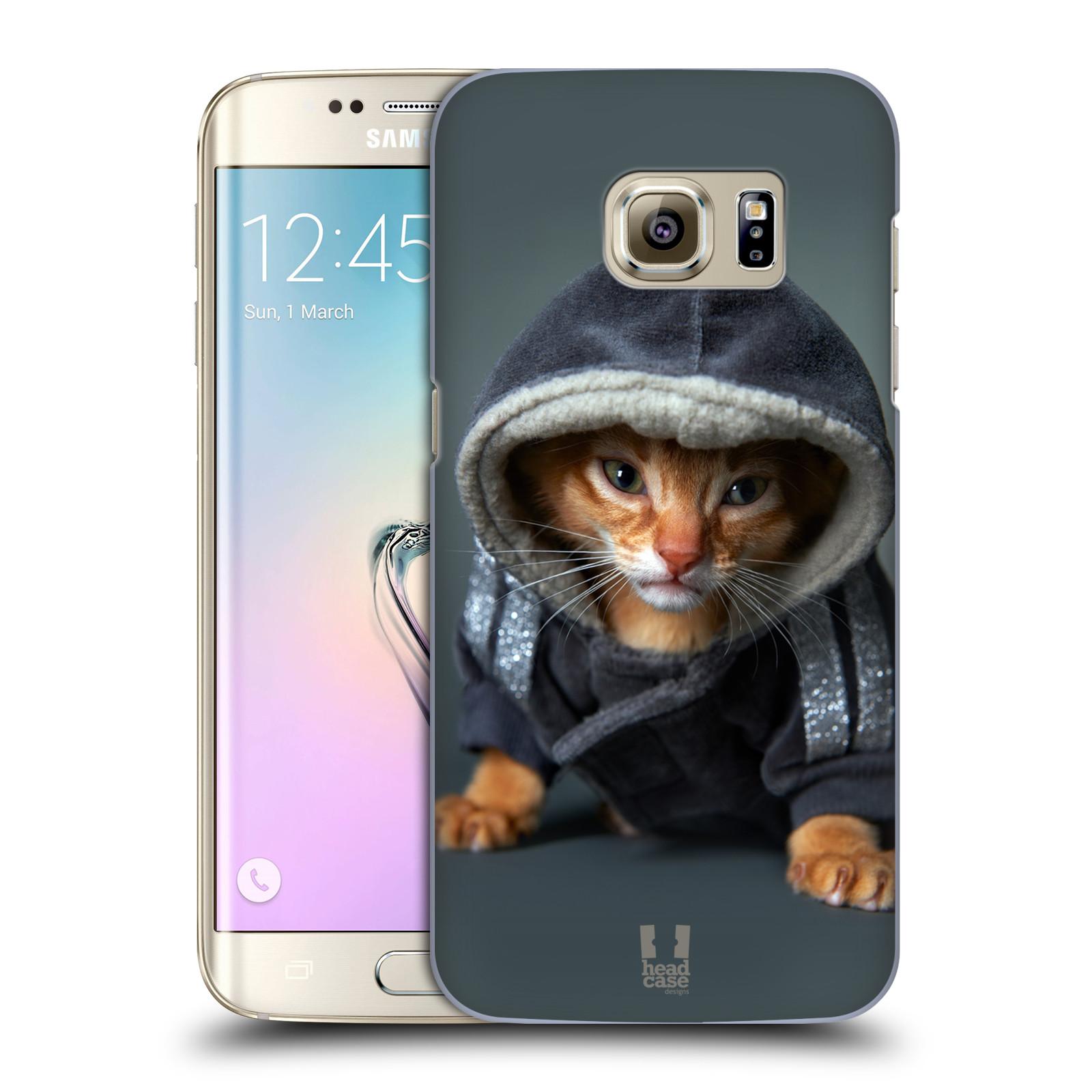 Plastové pouzdro na mobil Samsung Galaxy S7 Edge HEAD CASE KOTĚ V MIKČE (Kryt či obal na mobilní telefon Samsung Galaxy S7 Edge SM-G935F)