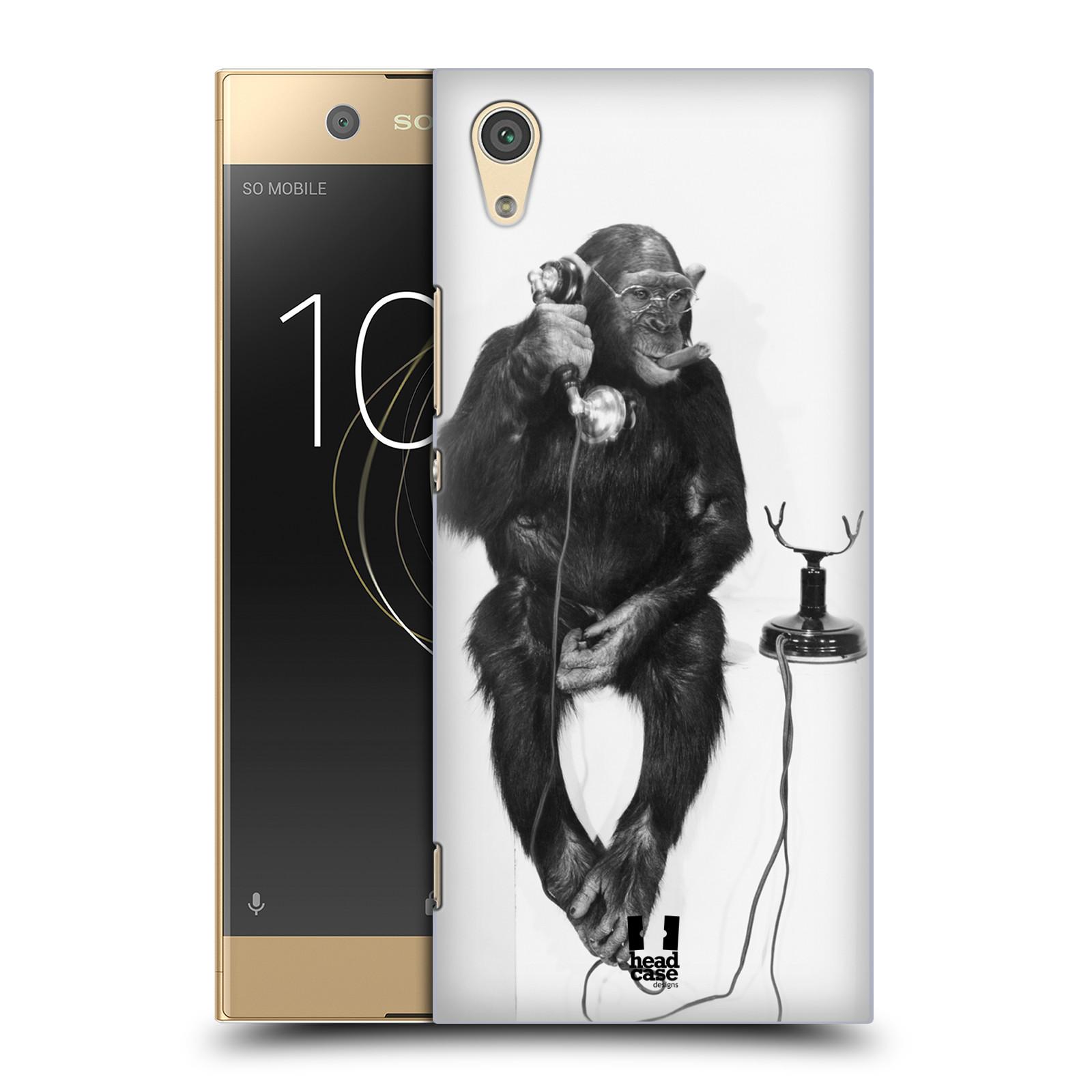 Plastové pouzdro na mobil Sony Xperia XA1 - Head Case - OPIČÁK S TELEFONEM (Plastový kryt či obal na mobilní telefon Sony Xperia XA1 G3121 s motivem OPIČÁK S TELEFONEM)
