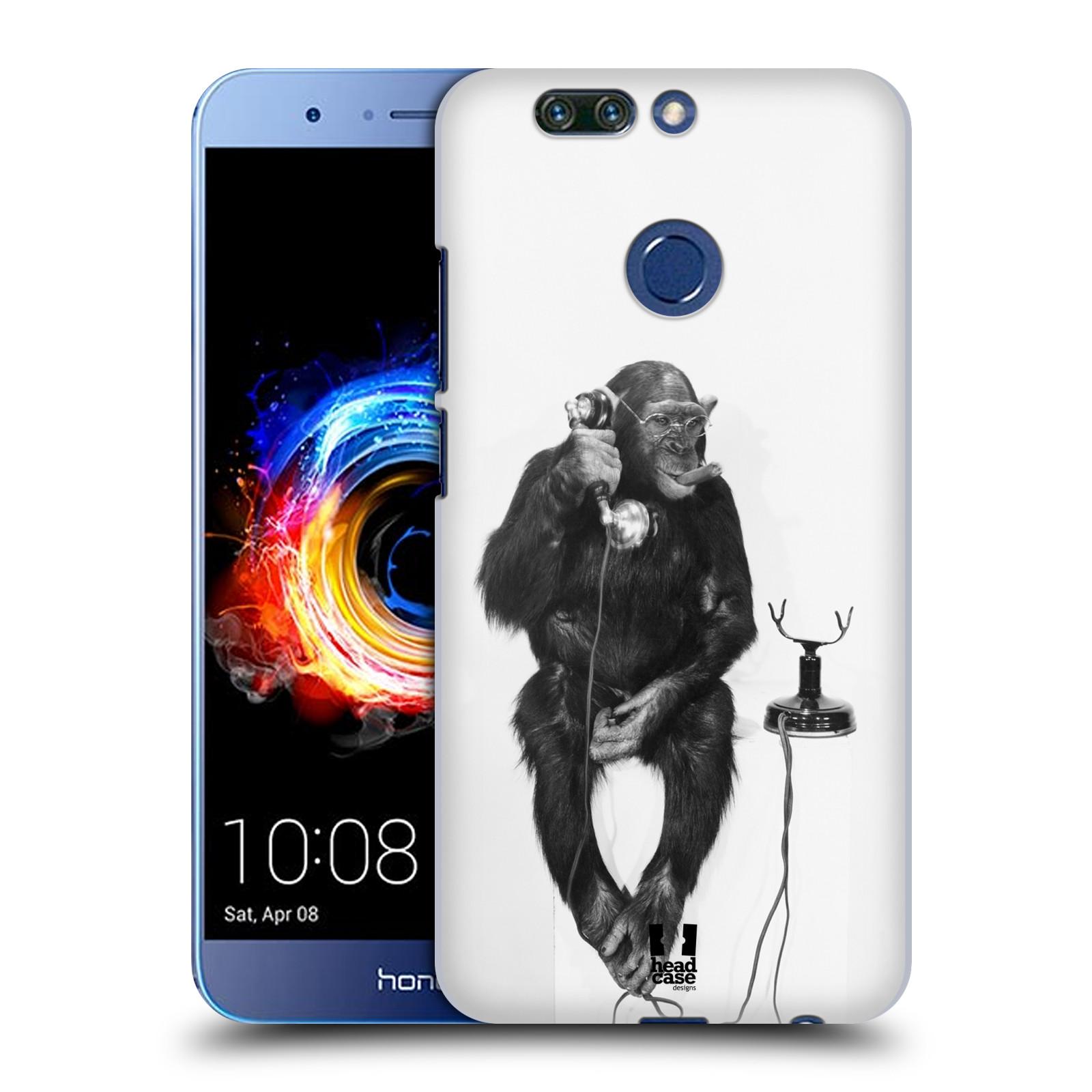 Plastové pouzdro na mobil Honor 8 Pro - Head Case - OPIČÁK S TELEFONEM (Plastový kryt či obal na mobilní telefon Honor 8 Pro s motivem OPIČÁK S TELEFONEM)