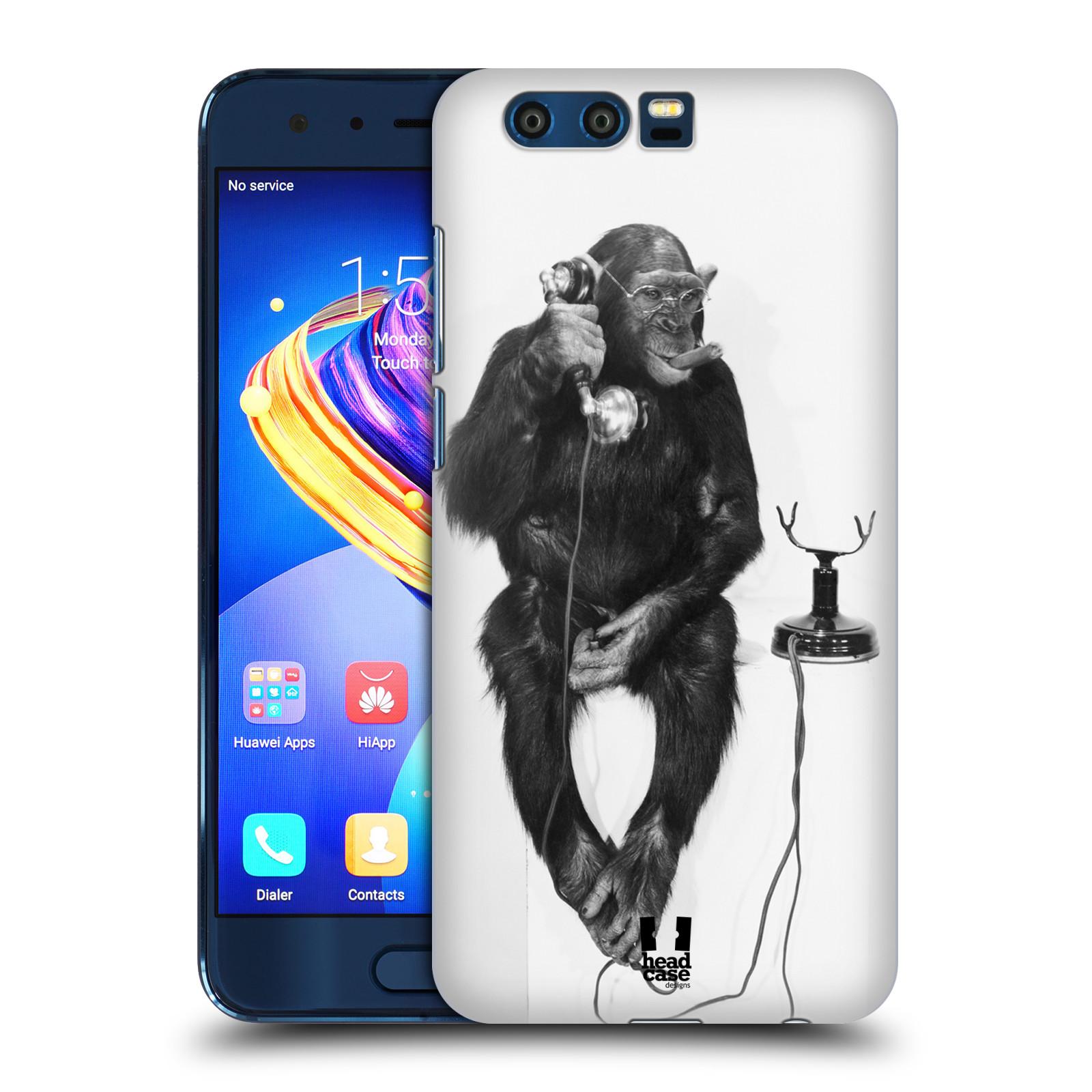 Plastové pouzdro na mobil Honor 9 - Head Case - OPIČÁK S TELEFONEM (Plastový kryt či obal na mobilní telefon Honor 9 s motivem OPIČÁK S TELEFONEM)