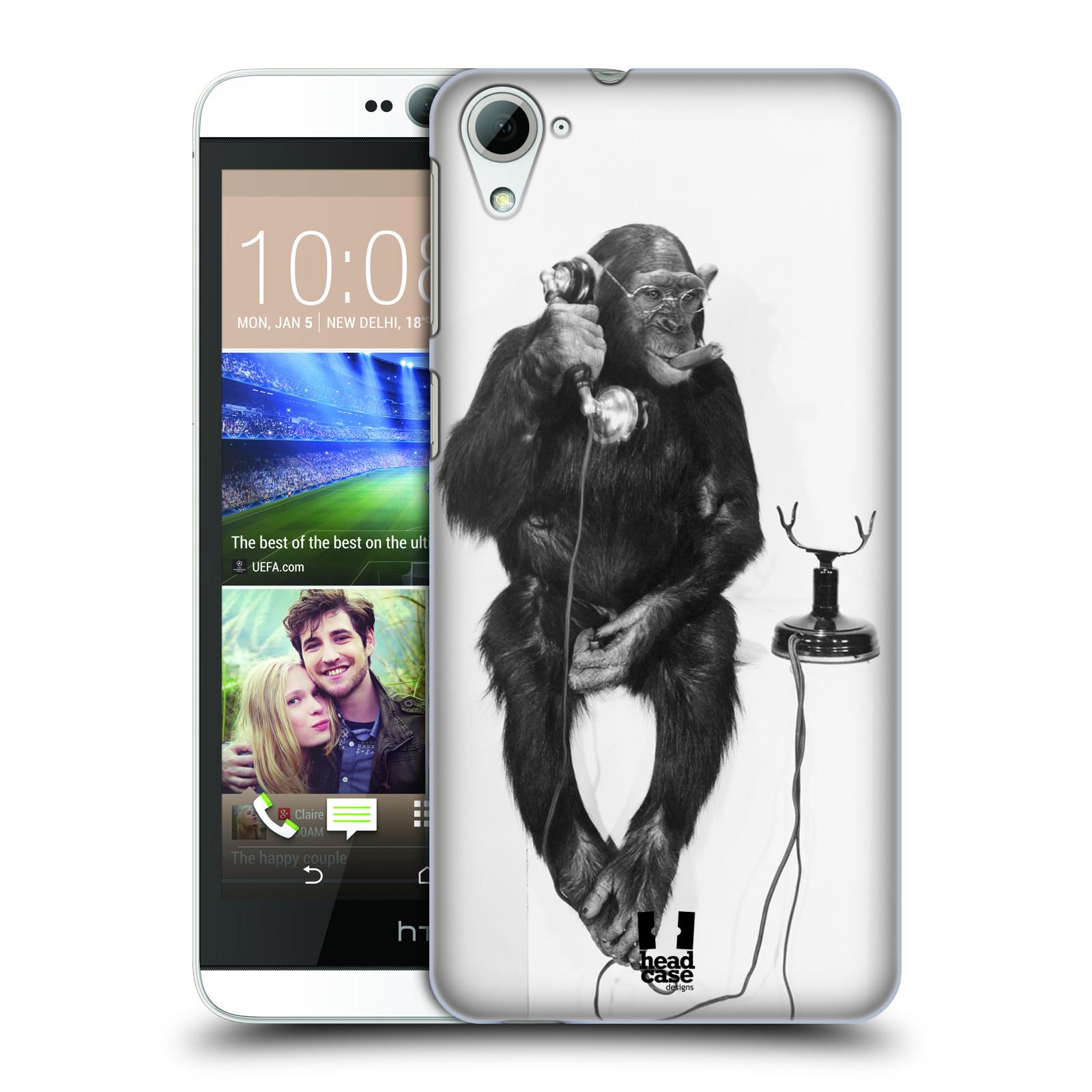 Plastové pouzdro na mobil HTC Desire 826 HEAD CASE OPIČÁK S TELEFONEM (Kryt či obal na mobilní telefon HTC Desire 826 Dual SIM)
