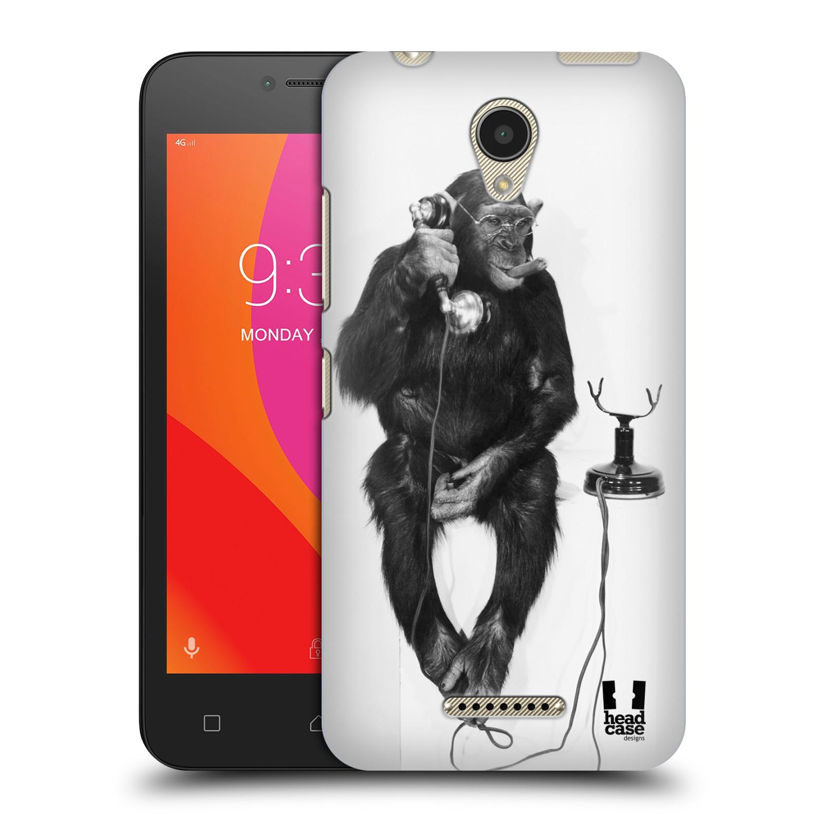 Plastové pouzdro na mobil Lenovo B - Head Case - OPIČÁK S TELEFONEM (Plastový kryt či obal na mobilní telefon Lenovo B s motivem OPIČÁK S TELEFONEM)