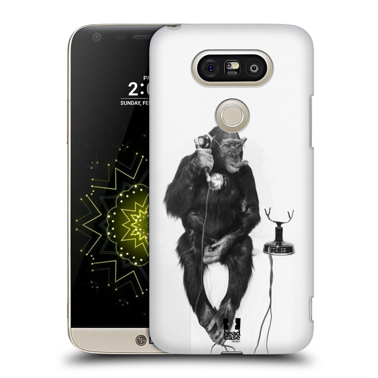 Plastové pouzdro na mobil LG G5 SE - Head Case - OPIČÁK S TELEFONEM (Plastový kryt či obal na mobilní telefon LG G5 SE H840 s motivem OPIČÁK S TELEFONEM)