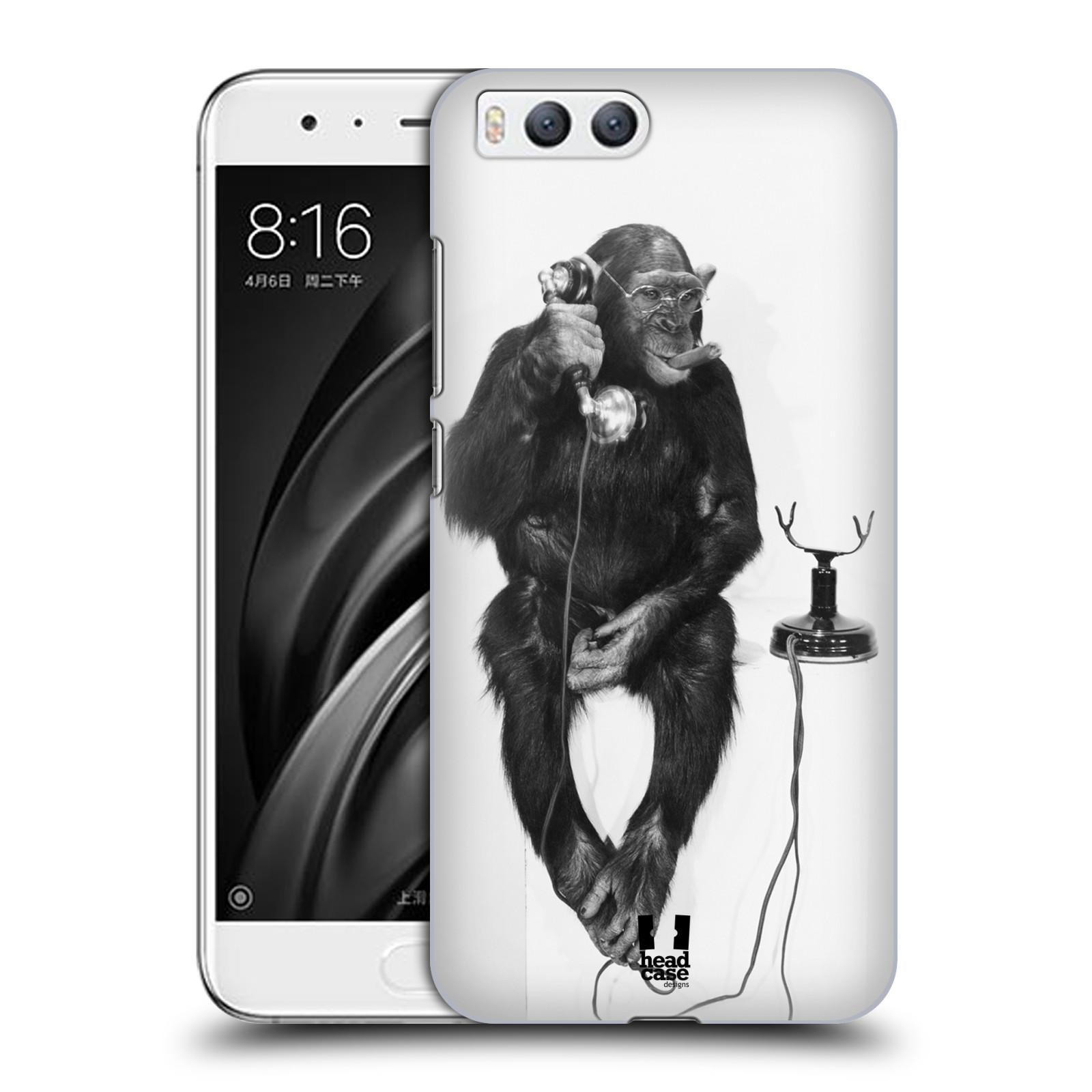 Plastové pouzdro na mobil Xiaomi Mi6 - Head Case - OPIČÁK S TELEFONEM (Plastový kryt či obal na mobilní telefon Xiaomi Mi6 s motivem OPIČÁK S TELEFONEM)