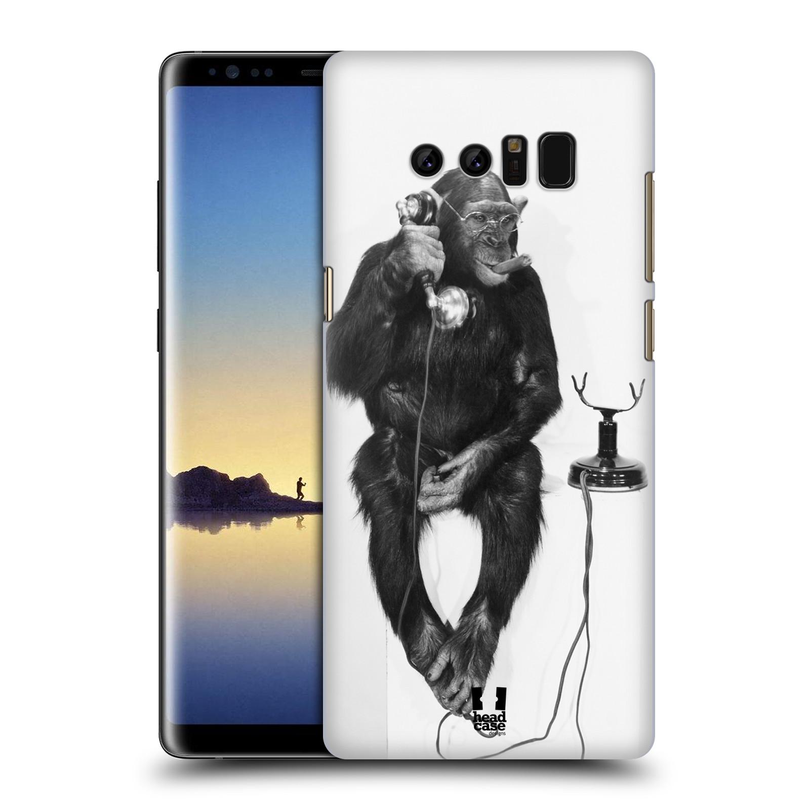 Plastové pouzdro na mobil Samsung Galaxy Note 8 - Head Case - OPIČÁK S TELEFONEM (Plastový kryt či obal na mobilní telefon Samsung Galaxy Note 8 SM-N950 s motivem OPIČÁK S TELEFONEM)