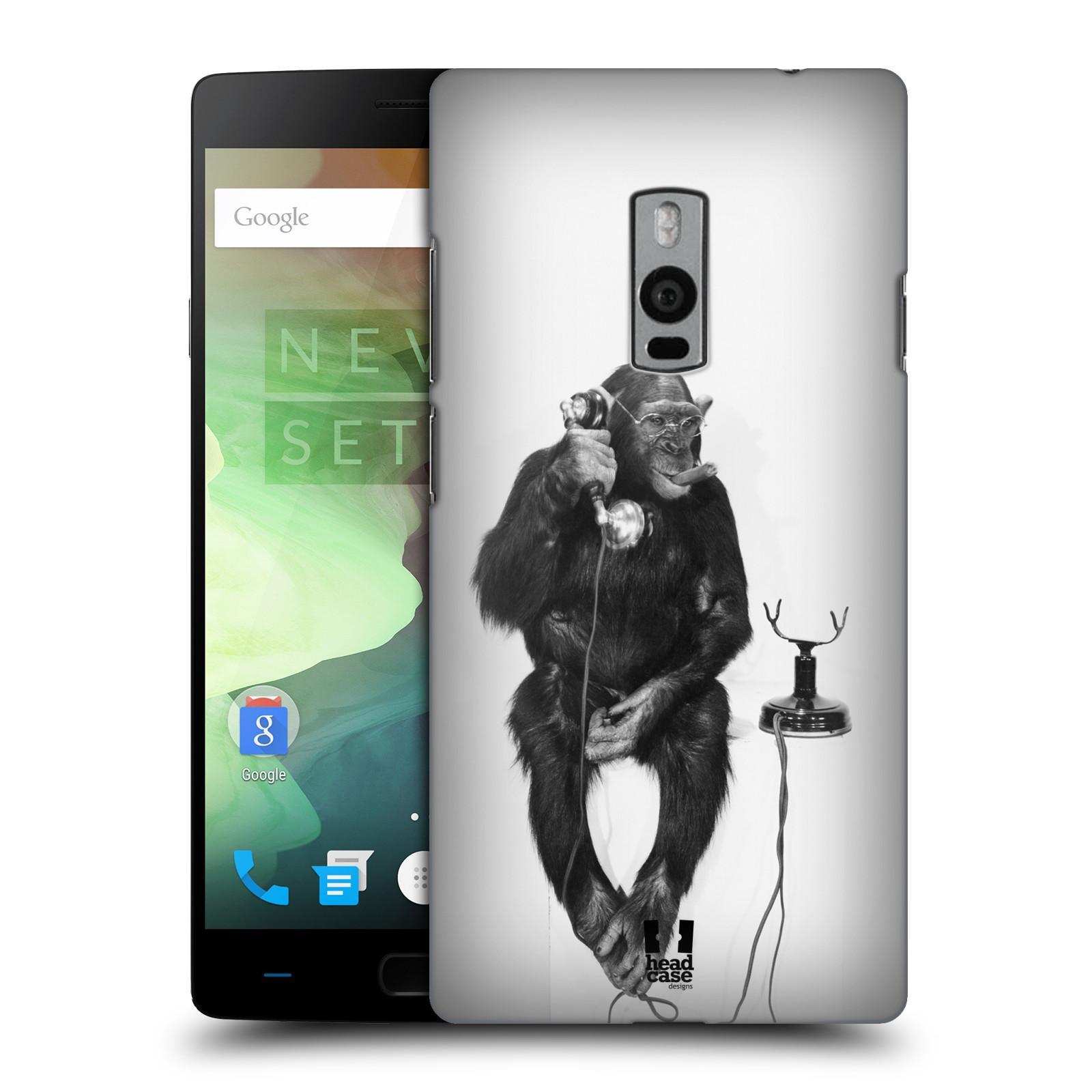 Plastové pouzdro na mobil OnePlus Two HEAD CASE OPIČÁK S TELEFONEM (Kryt či obal na mobilní telefon OnePlus Two)