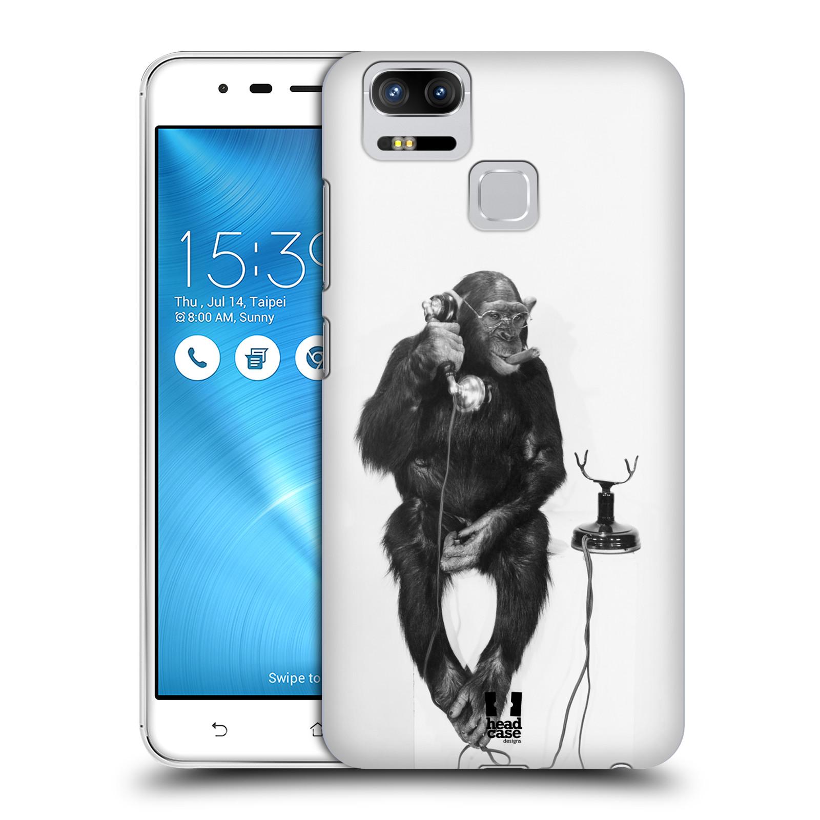 Plastové pouzdro na mobil Asus ZenFone 3 ZOOM ZE553KL - Head Case - OPIČÁK S TELEFONEM (Plastový kryt či obal na mobilní telefon Asus ZenFone 3 ZOOM ZE553KL s motivem OPIČÁK S TELEFONEM)