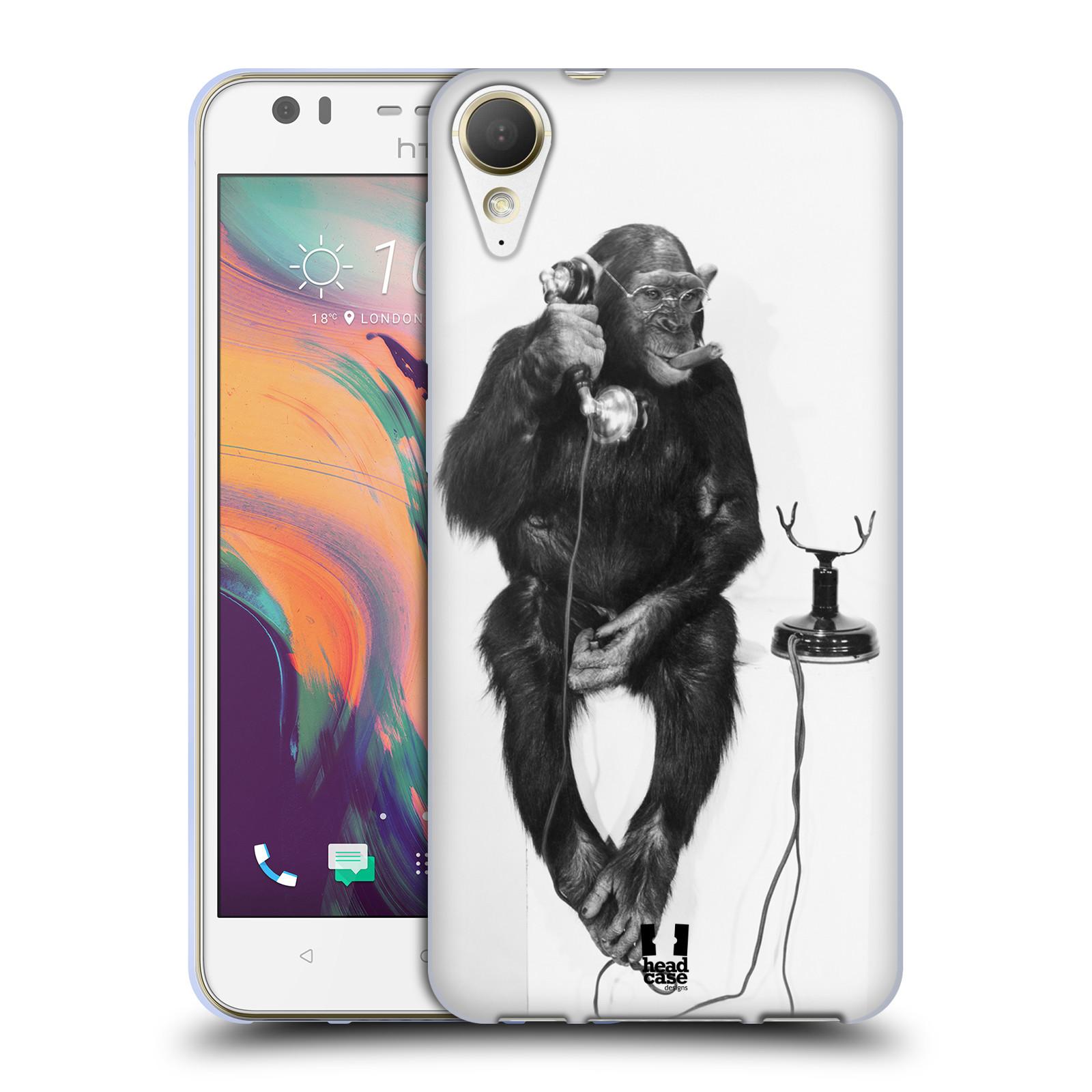 Silikonové pouzdro na mobil HTC Desire 10 Lifestyle - Head Case - OPIČÁK S TELEFONEM (Silikonový kryt či obal na mobilní telefon HTC Desire 10 Lifestyle s motivem OPIČÁK S TELEFONEM)