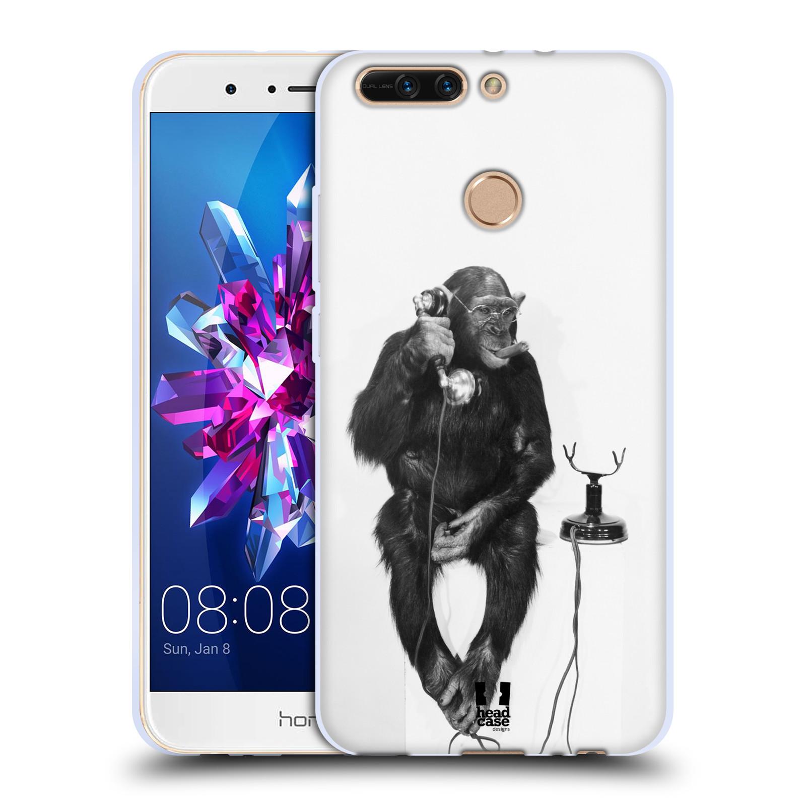 Silikonové pouzdro na mobil Honor 8 Pro - Head Case - OPIČÁK S TELEFONEM (Silikonový kryt či obal na mobilní telefon Honor 8 Pro s motivem OPIČÁK S TELEFONEM)
