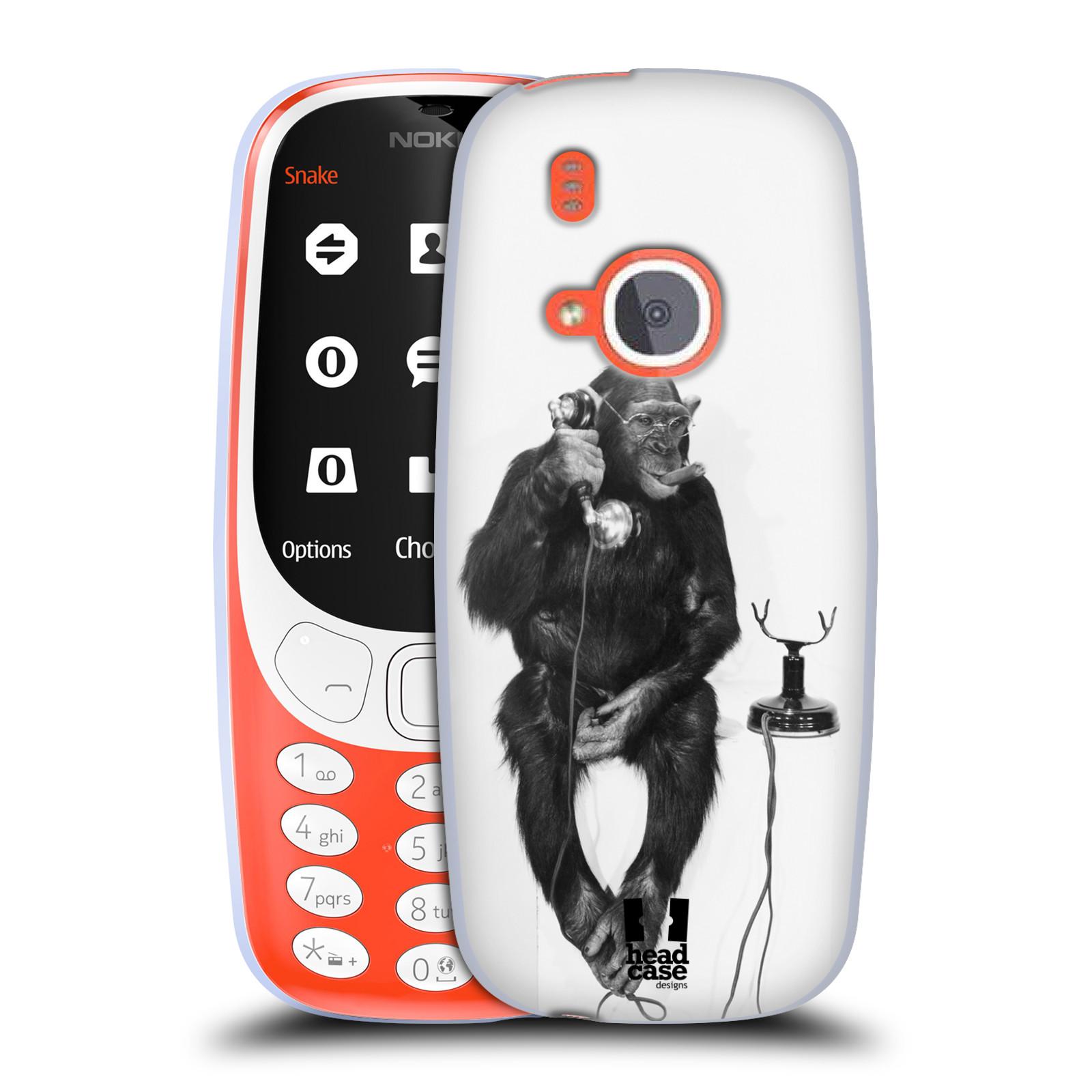 Silikonové pouzdro na mobil Nokia 3310 - Head Case - OPIČÁK S TELEFONEM (Silikonový kryt či obal na mobilní telefon Nokia 3310 (2017) s motivem OPIČÁK S TELEFONEM)