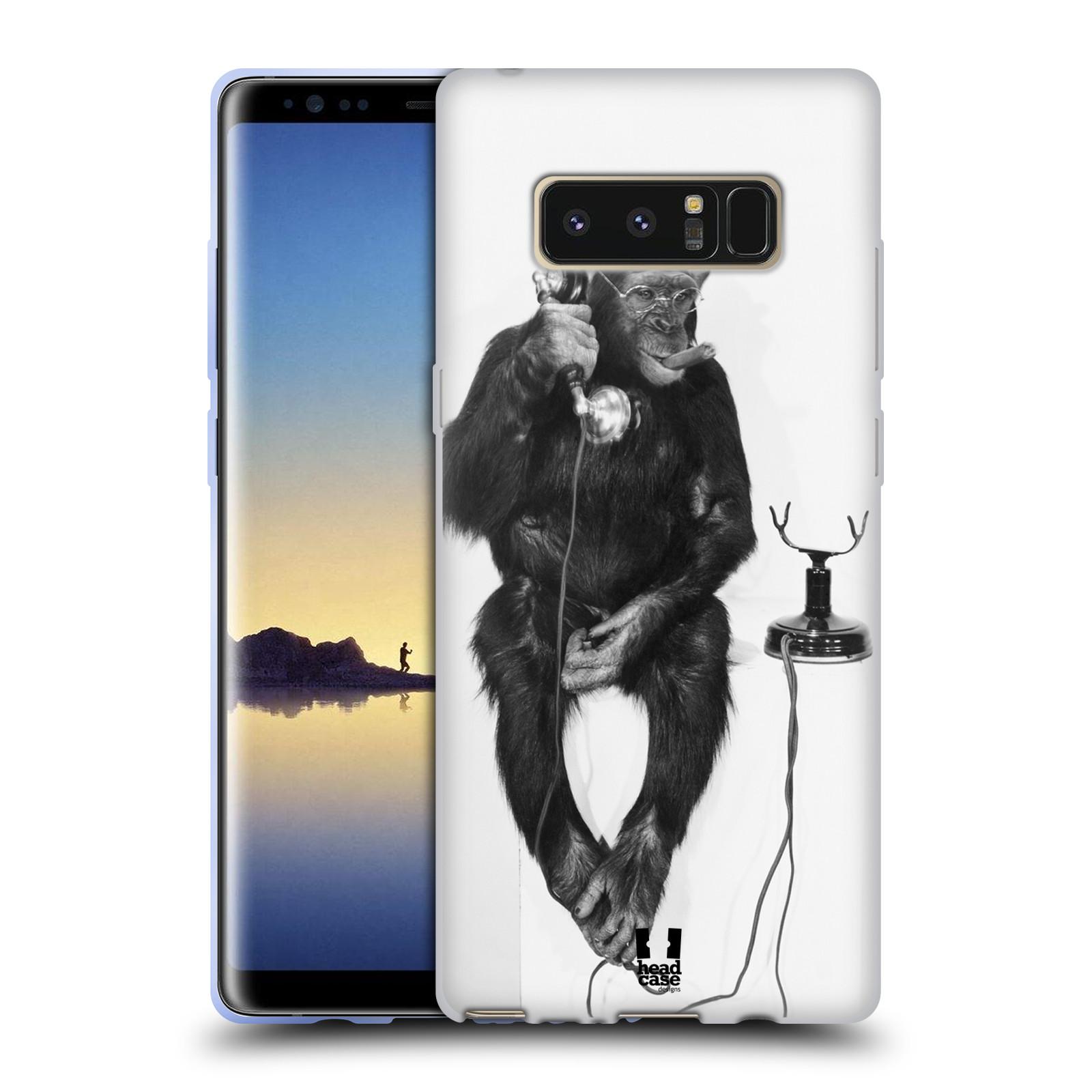 Silikonové pouzdro na mobil Samsung Galaxy Note 8 - Head Case - OPIČÁK S TELEFONEM (Silikonový kryt či obal na mobilní telefon Samsung Galaxy Note 8 SM-N950 s motivem OPIČÁK S TELEFONEM)