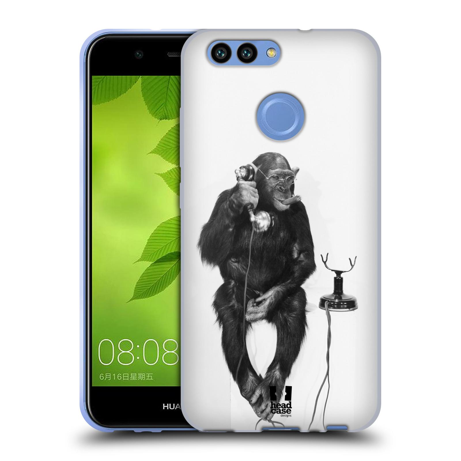 Silikonové pouzdro na mobil Huawei Nova 2 - Head Case - OPIČÁK S TELEFONEM (Silikonový kryt či obal na mobilní telefon Huawei Nova 2 s motivem OPIČÁK S TELEFONEM)