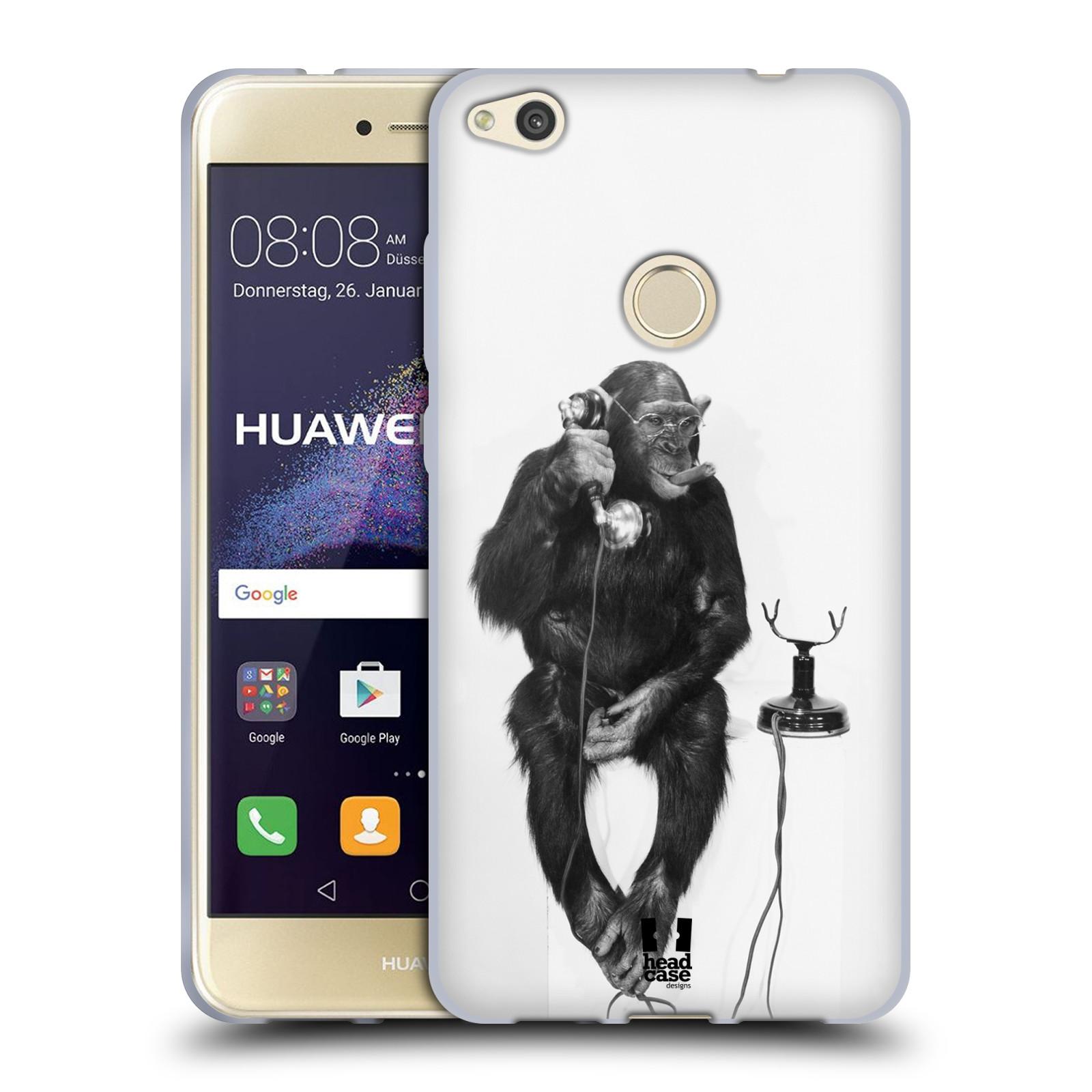Silikonové pouzdro na mobil Honor 8 Lite - Head Case - OPIČÁK S TELEFONEM (Silikonový kryt či obal na mobilní telefon Honor 8 Lite s motivem OPIČÁK S TELEFONEM)