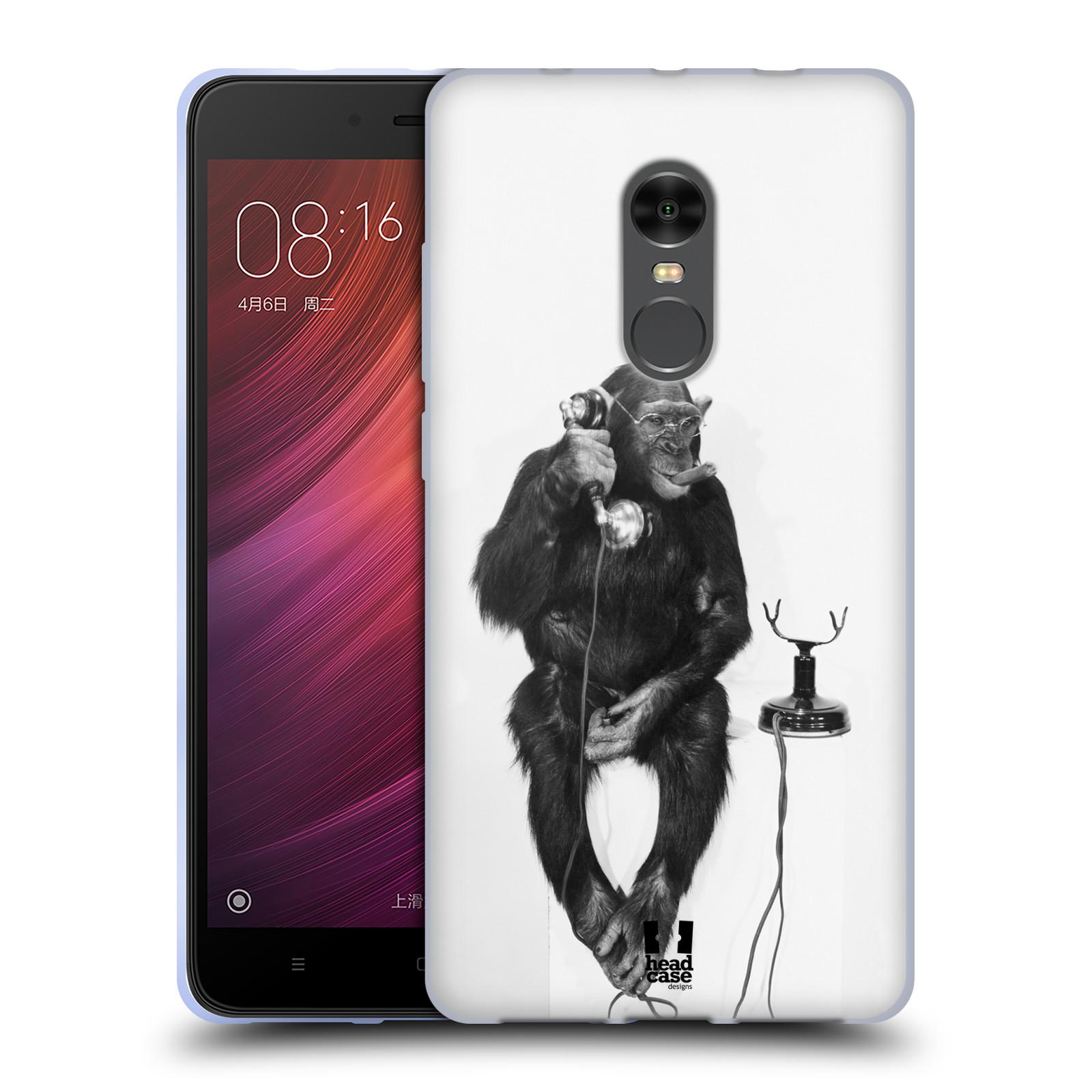 Silikonové pouzdro na mobil Xiaomi Redmi Note 4 - Head Case - OPIČÁK S TELEFONEM (Silikonový kryt či obal na mobilní telefon Xiaomi Redmi Note 4 s motivem OPIČÁK S TELEFONEM)