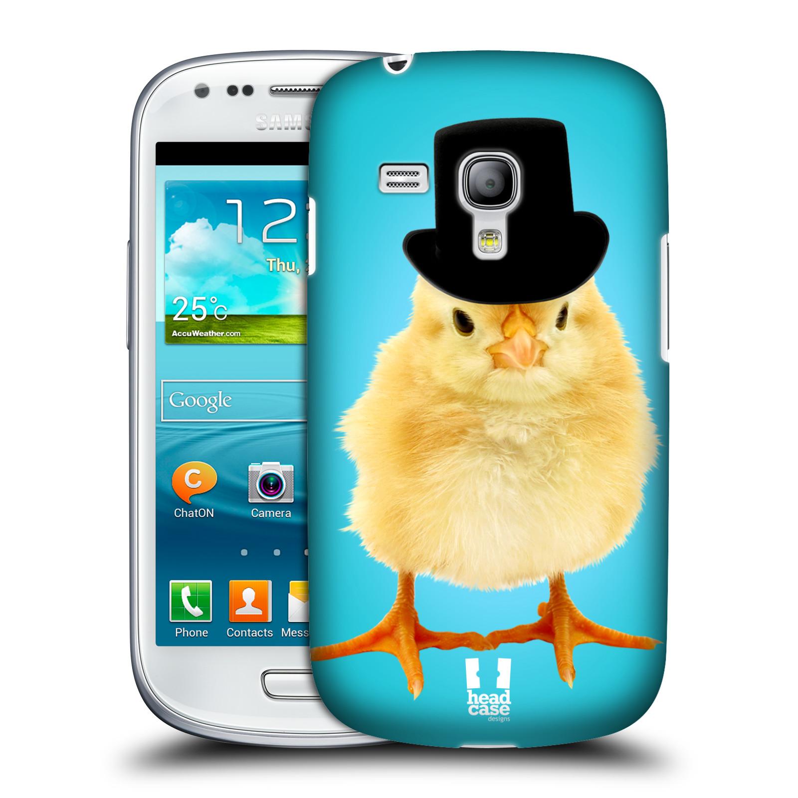 Plastové pouzdro na mobil Samsung Galaxy S III Mini HEAD CASE KUŘE S KLÓBRCEM (Kryt či obal na mobilní telefon Samsung Galaxy S III Mini GT-i8190)