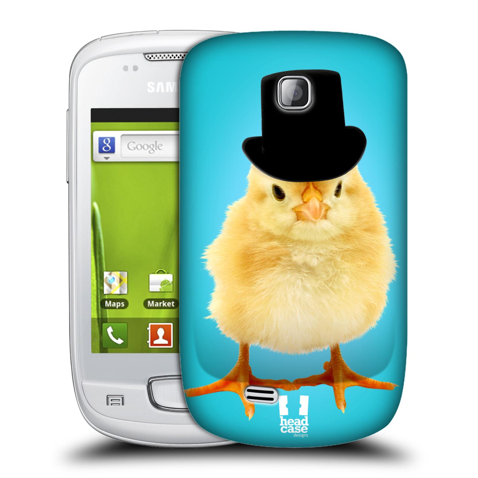 Plastové pouzdro na mobil Samsung Galaxy Mini HEAD CASE KUŘE S KLÓBRCEM (Kryt či obal na mobilní telefon Samsung Galaxy Mini GT-S5570 / GT-S5570i)