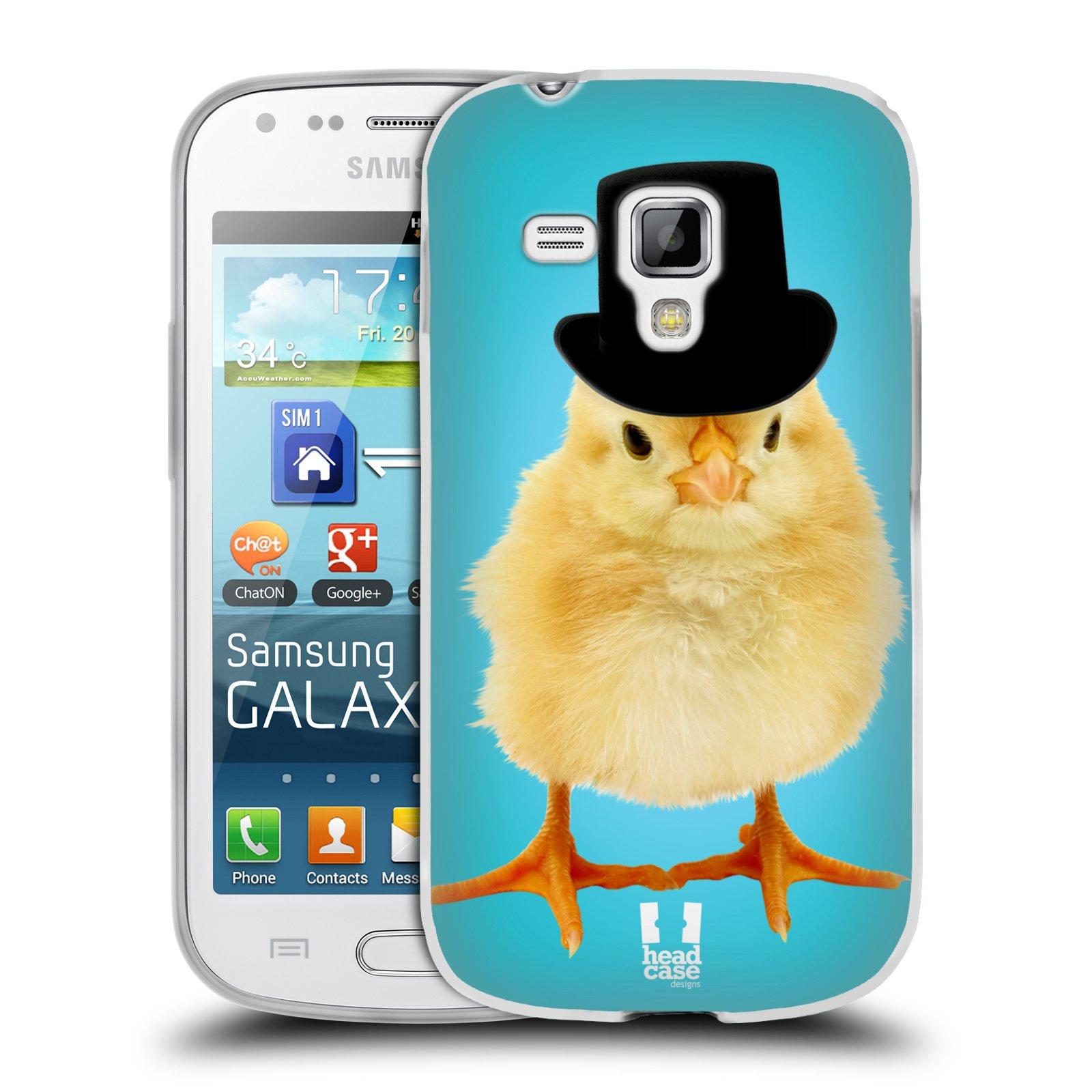 Silikonové pouzdro na mobil Samsung Galaxy Trend Plus HEAD CASE KUŘE S KLÓBRCEM (Silikonový kryt či obal na mobilní telefon Samsung Galaxy Trend Plus GT-S7580)