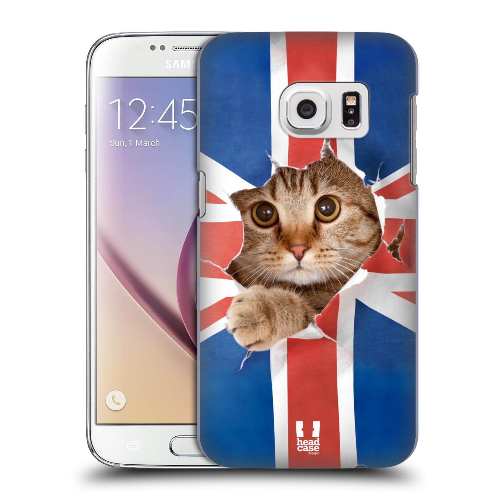 Plastové pouzdro na mobil Samsung Galaxy S7 HEAD CASE KOČKA A VLAJKA (Kryt či obal na mobilní telefon Samsung Galaxy S7 SM-G930F)