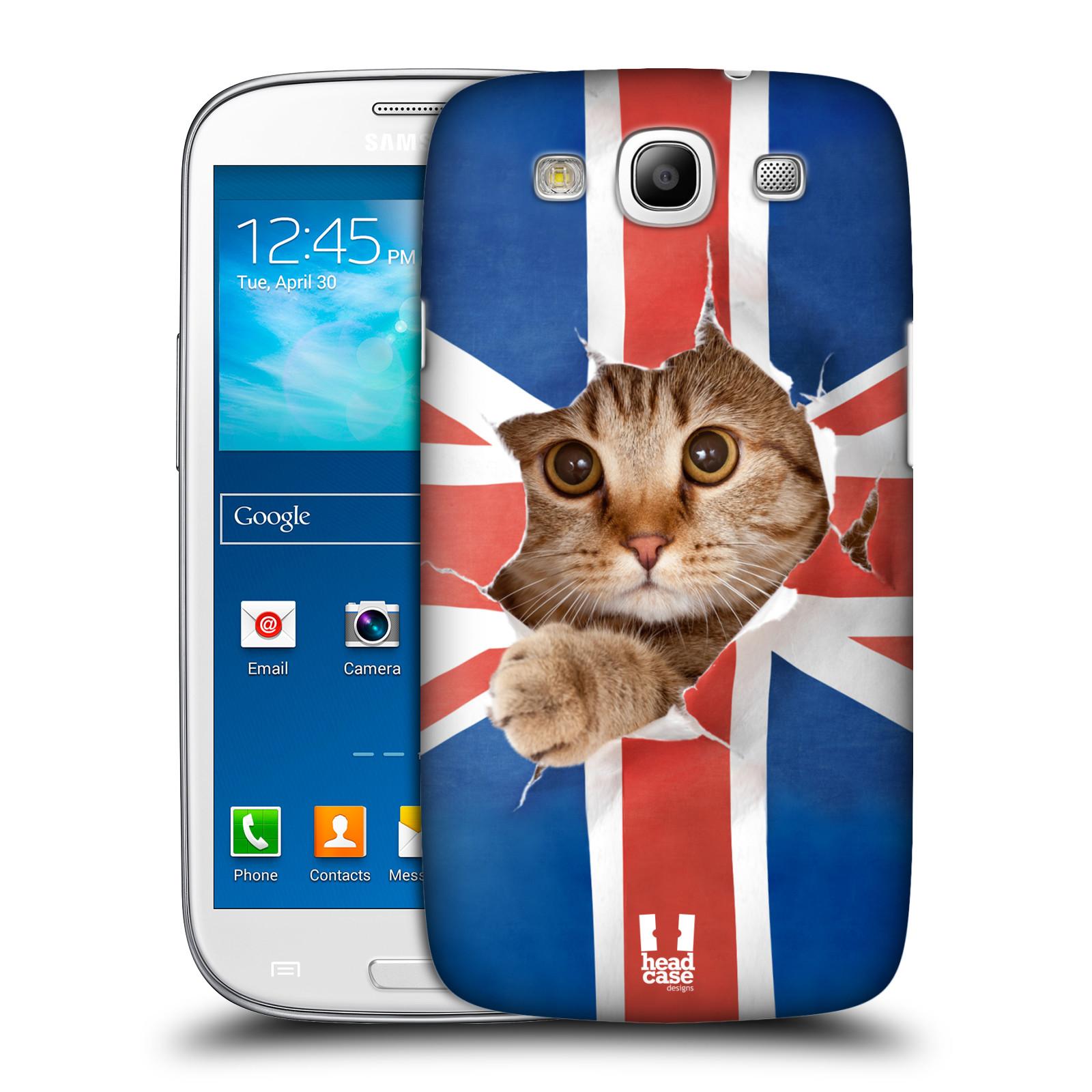 Plastové pouzdro na mobil Samsung Galaxy S3 Neo HEAD CASE KOČKA A VLAJKA
