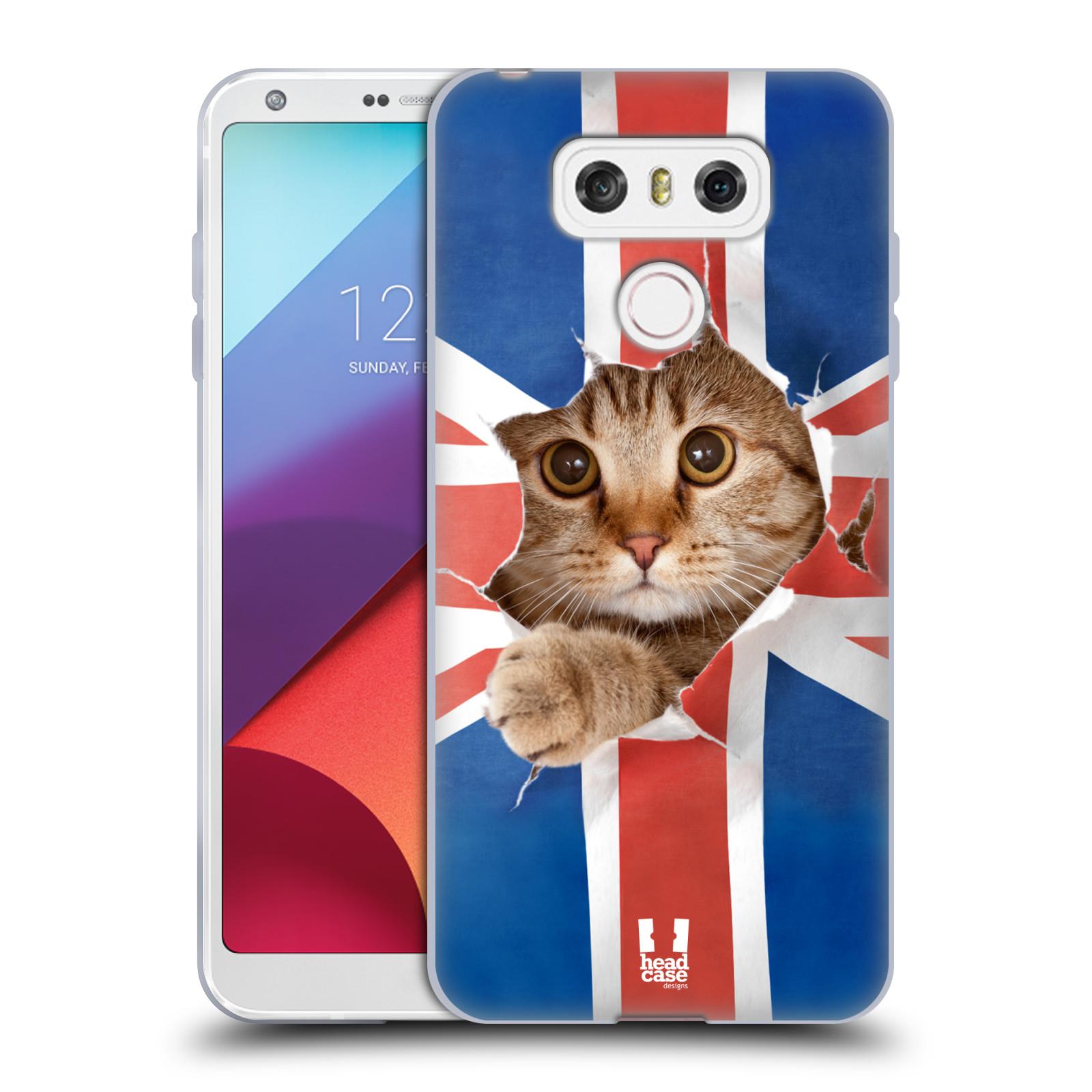Silikonové pouzdro na mobil LG G6 - Head Case KOČKA A VLAJKA (Silikonový kryt či obal na mobilní telefon LG G6 H870 / LG G6 Dual SIM H870DS)