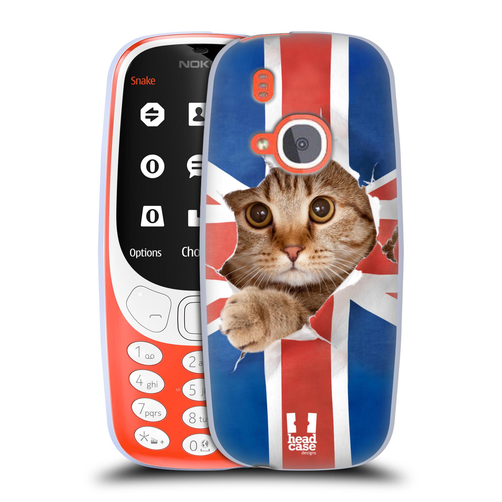Silikonové pouzdro na mobil Nokia 3310 - Head Case - KOČKA A VLAJKA (Silikonový kryt či obal na mobilní telefon Nokia 3310 (2017) s motivem KOČKA A VLAJKA)