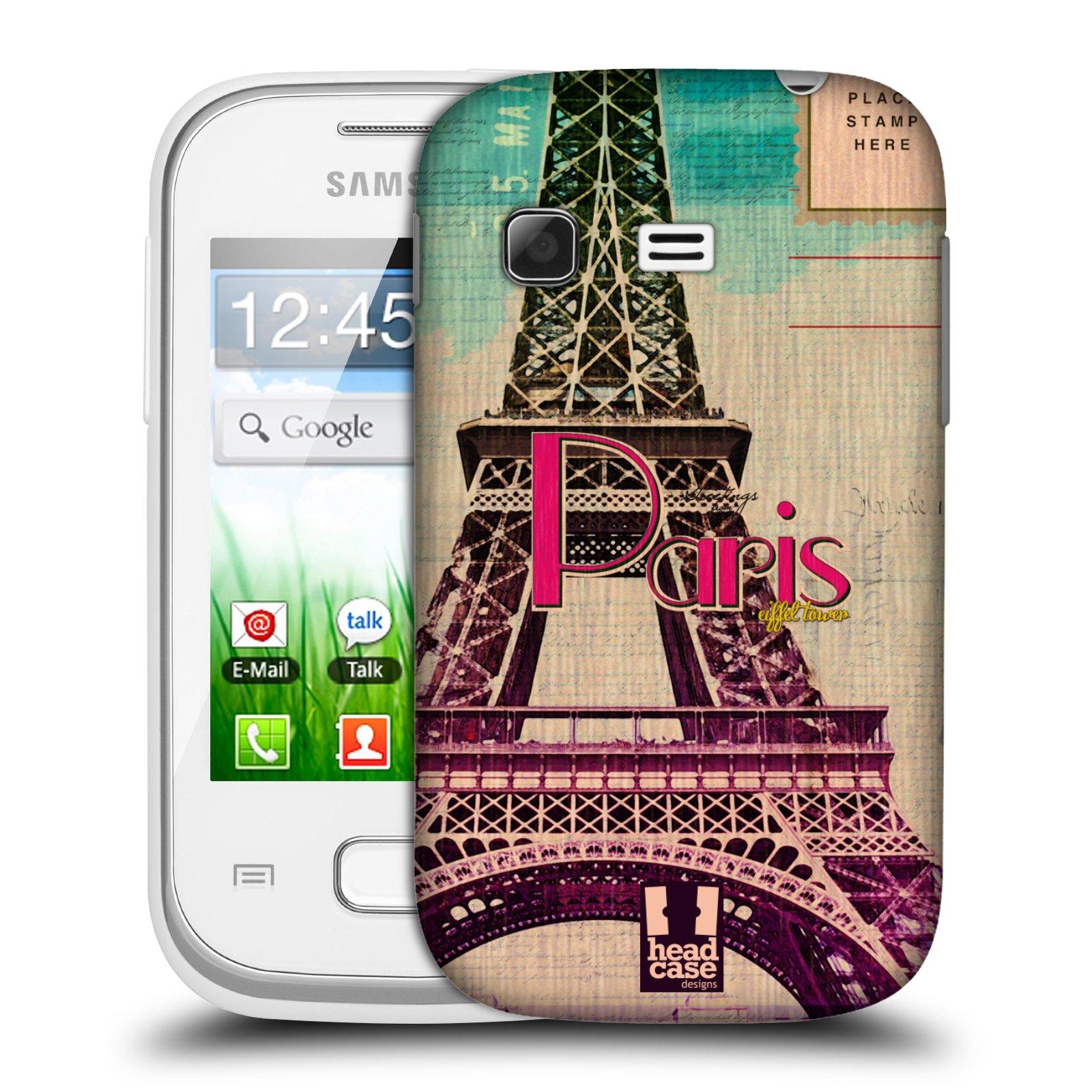 Plastové pouzdro na mobil Samsung Galaxy Pocket HEAD CASE PARIS VINTAGE (Kryt či obal na mobilní telefon Samsung Galaxy Pocket GT-S5300)