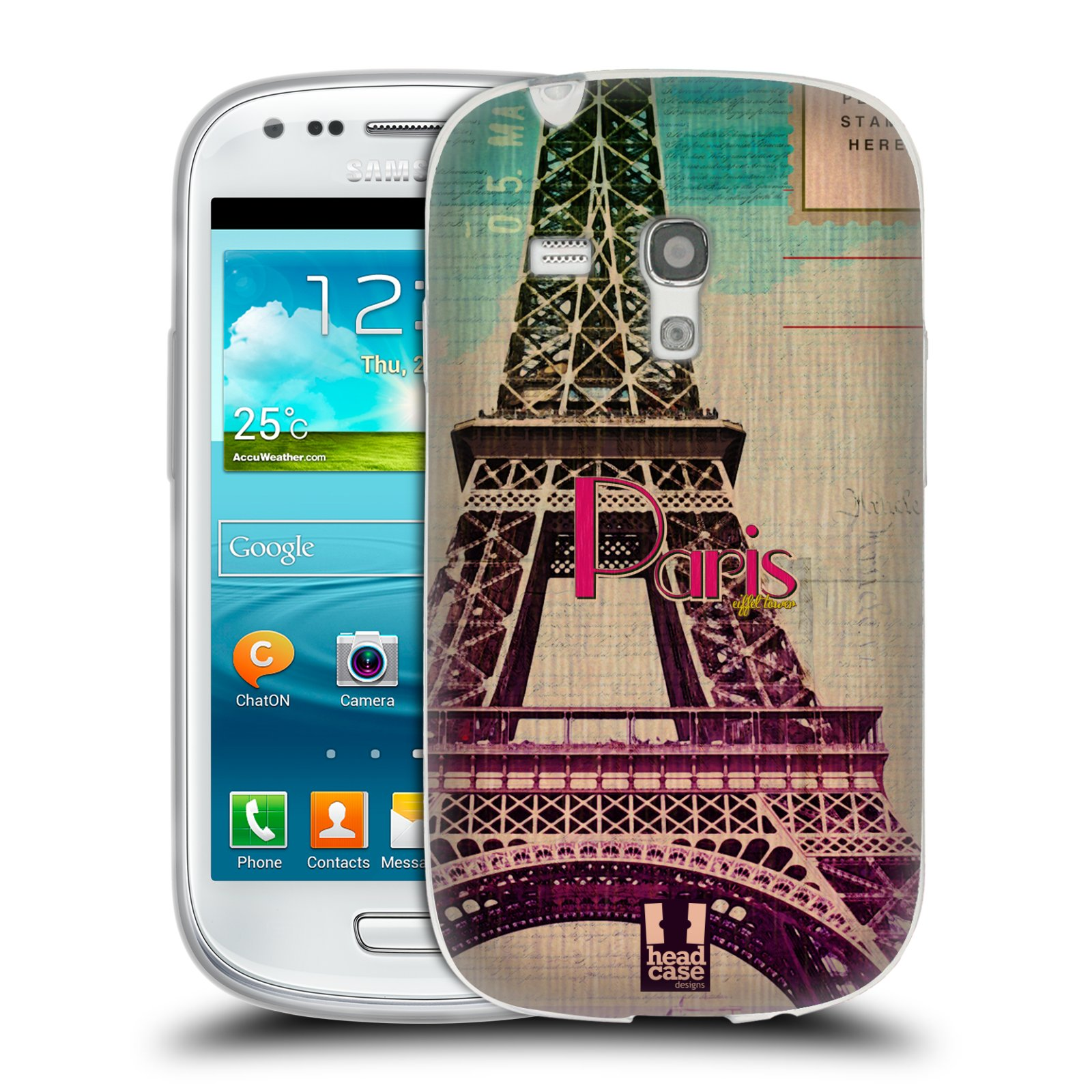Silikonové pouzdro na mobil Samsung Galaxy S III Mini HEAD CASE PARIS VINTAGE (Silikonový kryt či obal na mobilní telefon Samsung Galaxy S III Mini GT-i8190)
