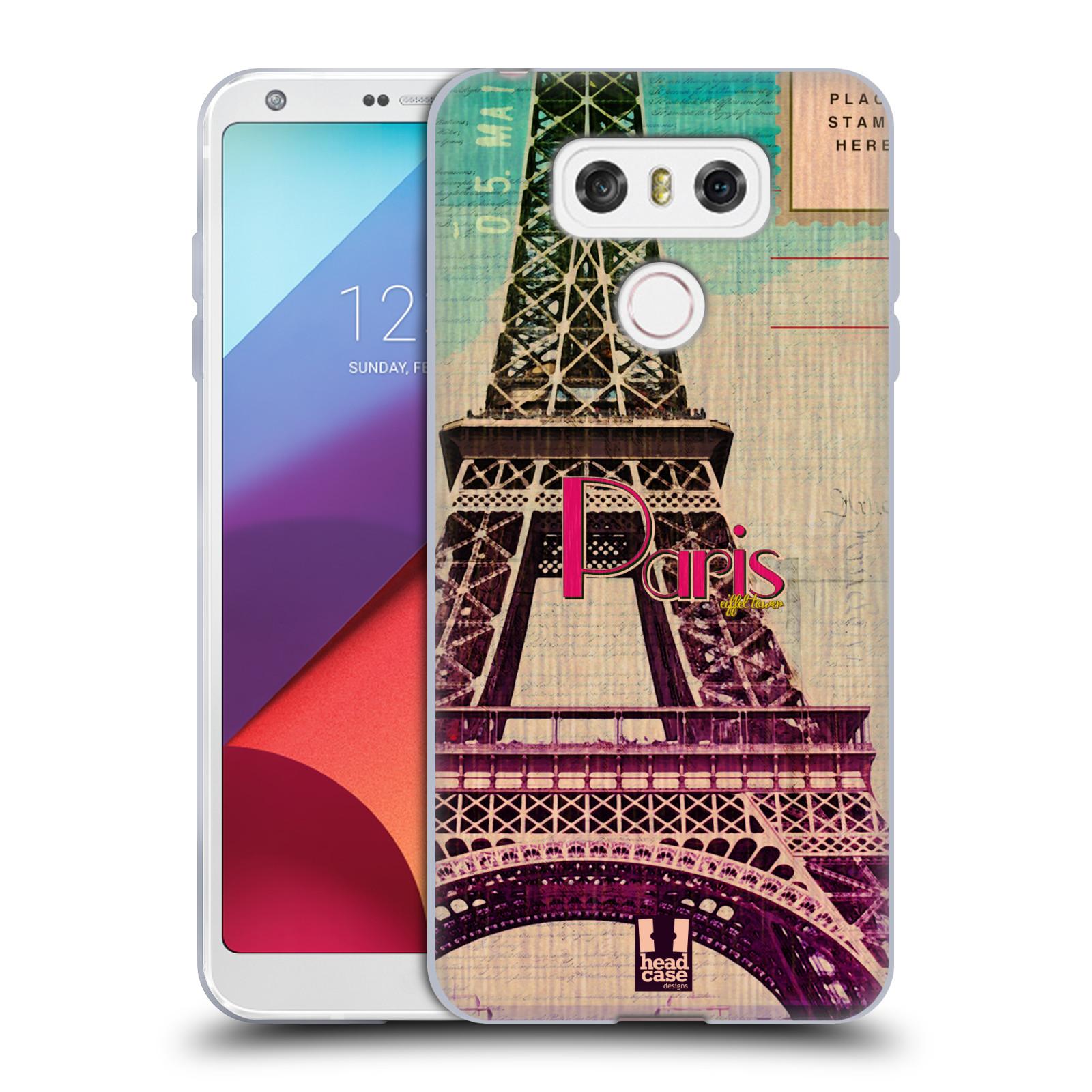 Silikonové pouzdro na mobil LG G6 - Head Case PARIS VINTAGE (Silikonový kryt či obal na mobilní telefon LG G6 H870 / LG G6 Dual SIM H870DS)