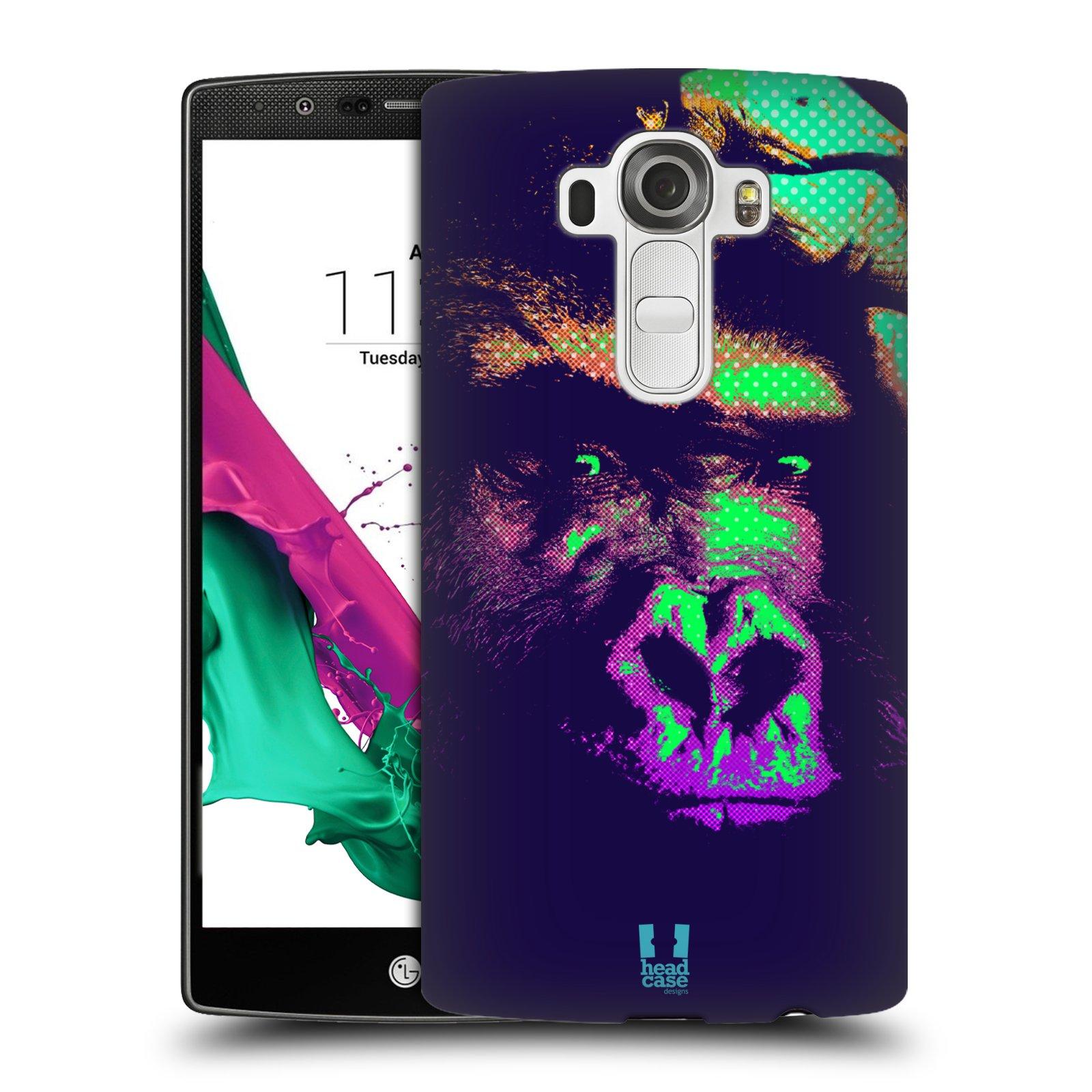 Plastové pouzdro na mobil LG G4 HEAD CASE POP PRINT GORILA (Kryt či obal na mobilní telefon LG G4 H815)