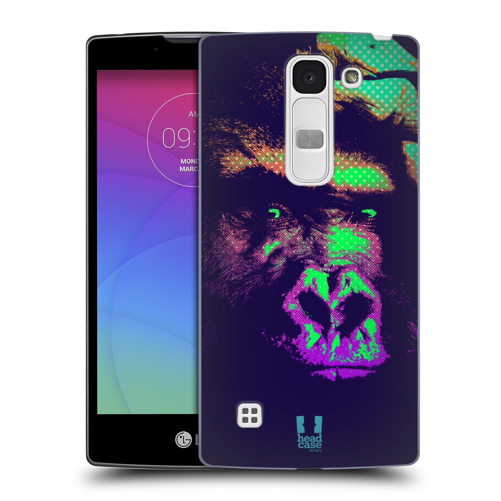 Plastové pouzdro na mobil LG Spirit LTE HEAD CASE POP PRINT GORILA (Kryt či obal na mobilní telefon LG Spirit H420 a LG Spirit LTE H440N)