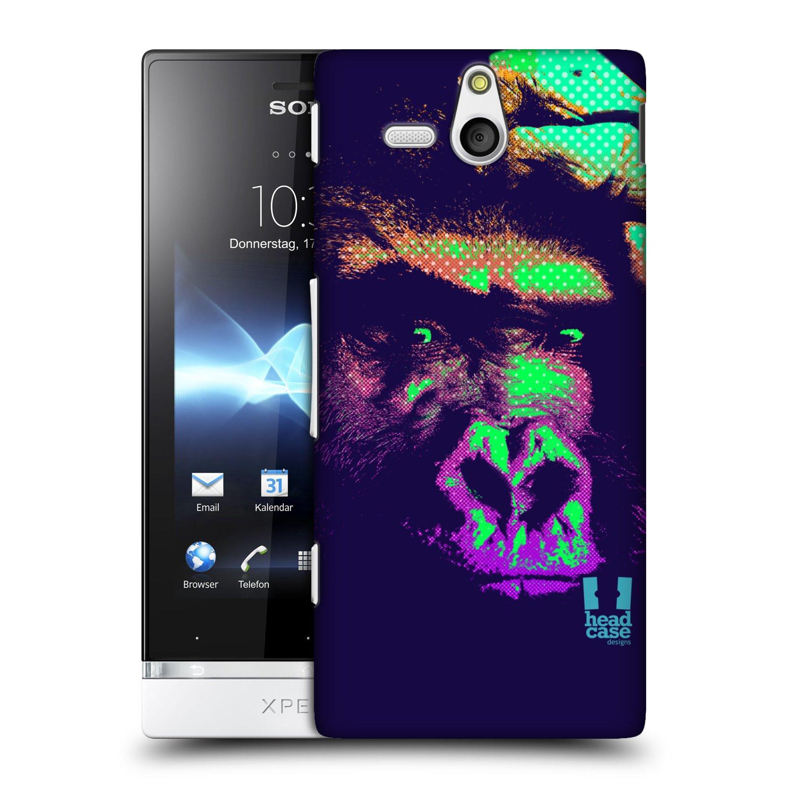 Plastové pouzdro na mobil Sony Xperia U ST25i HEAD CASE POP PRINT GORILA (Kryt či obal na mobilní telefon Sony Xperia U )
