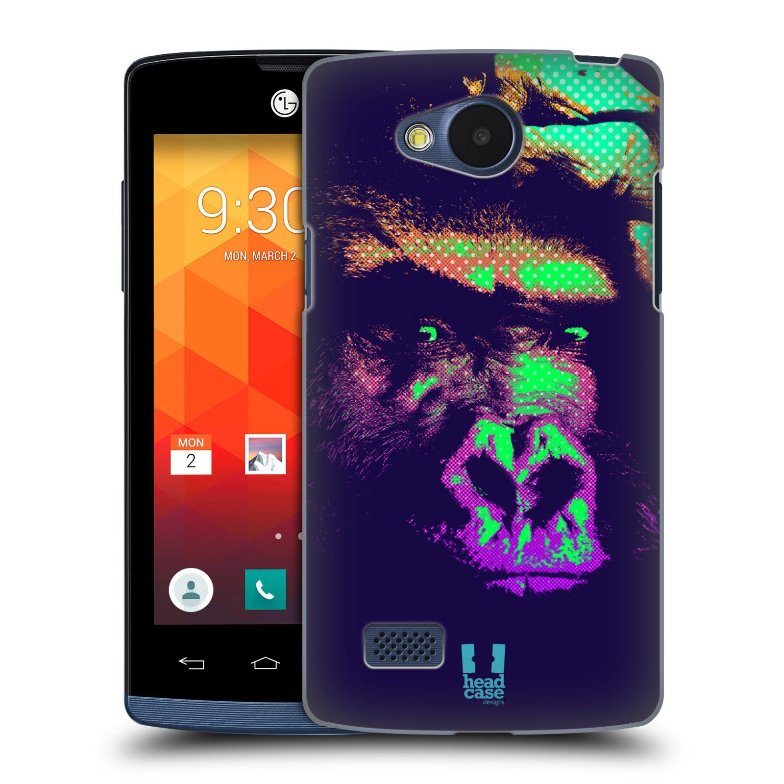 Plastové pouzdro na mobil LG Joy HEAD CASE POP PRINT GORILA (Kryt či obal na mobilní telefon LG Joy H220)