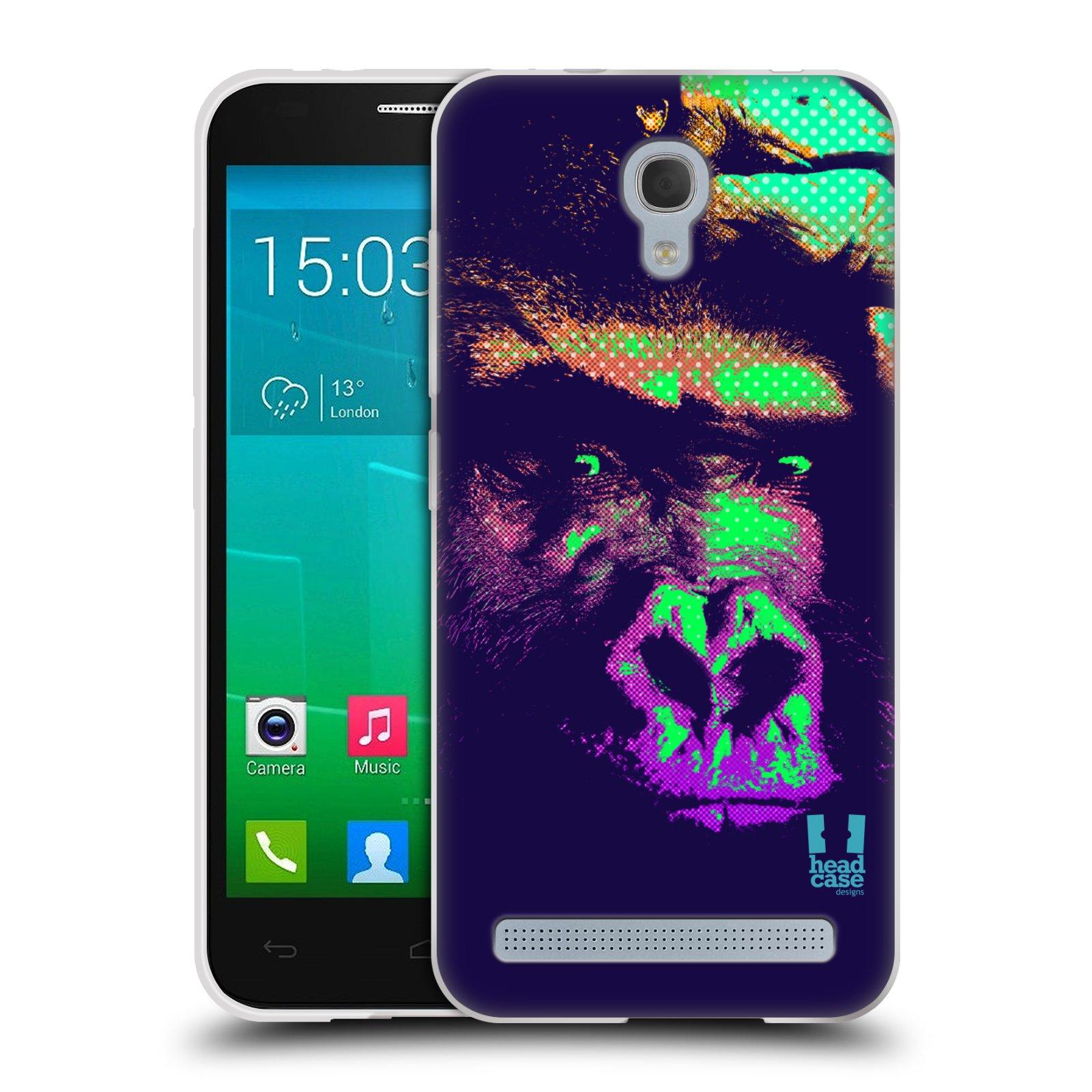 Silikonové pouzdro na mobil Alcatel One Touch Idol 2 Mini S 6036Y HEAD CASE POP PRINT GORILA (Silikonový kryt či obal na mobilní telefon Alcatel Idol 2 Mini S OT-6036Y)