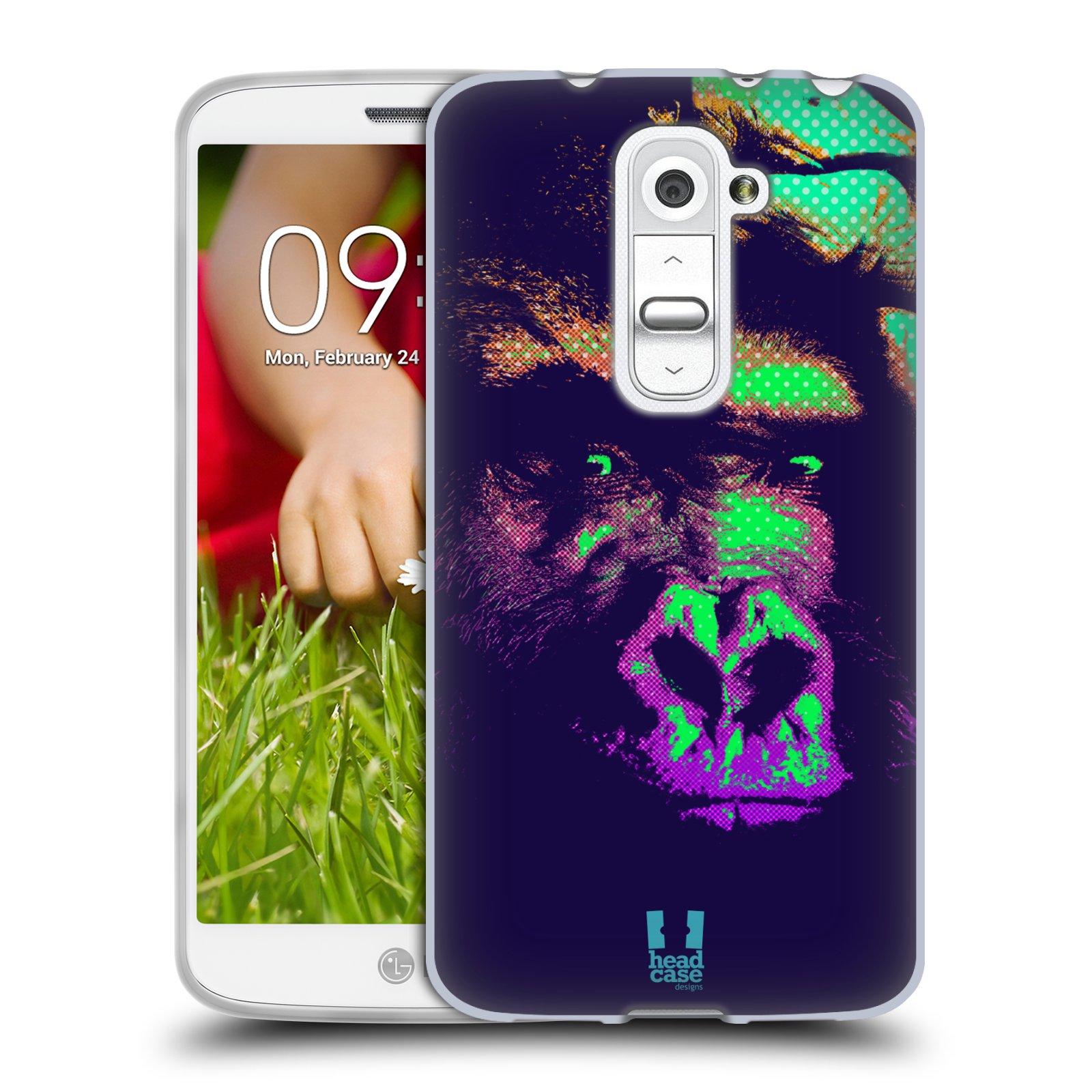 Silikonové pouzdro na mobil LG G2 Mini HEAD CASE POP PRINT GORILA (Silikonový kryt či obal na mobilní telefon LG G2 Mini D620)