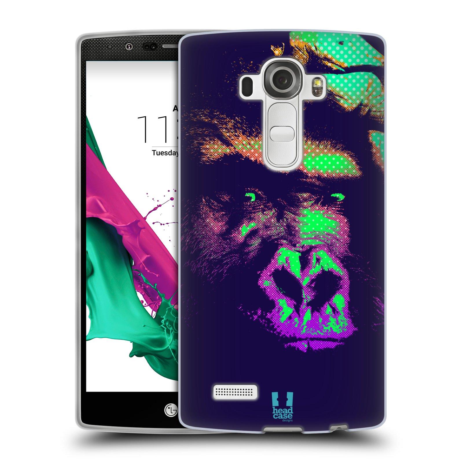 Silikonové pouzdro na mobil LG G4 HEAD CASE POP PRINT GORILA (Silikonový kryt či obal na mobilní telefon LG G4 H815)