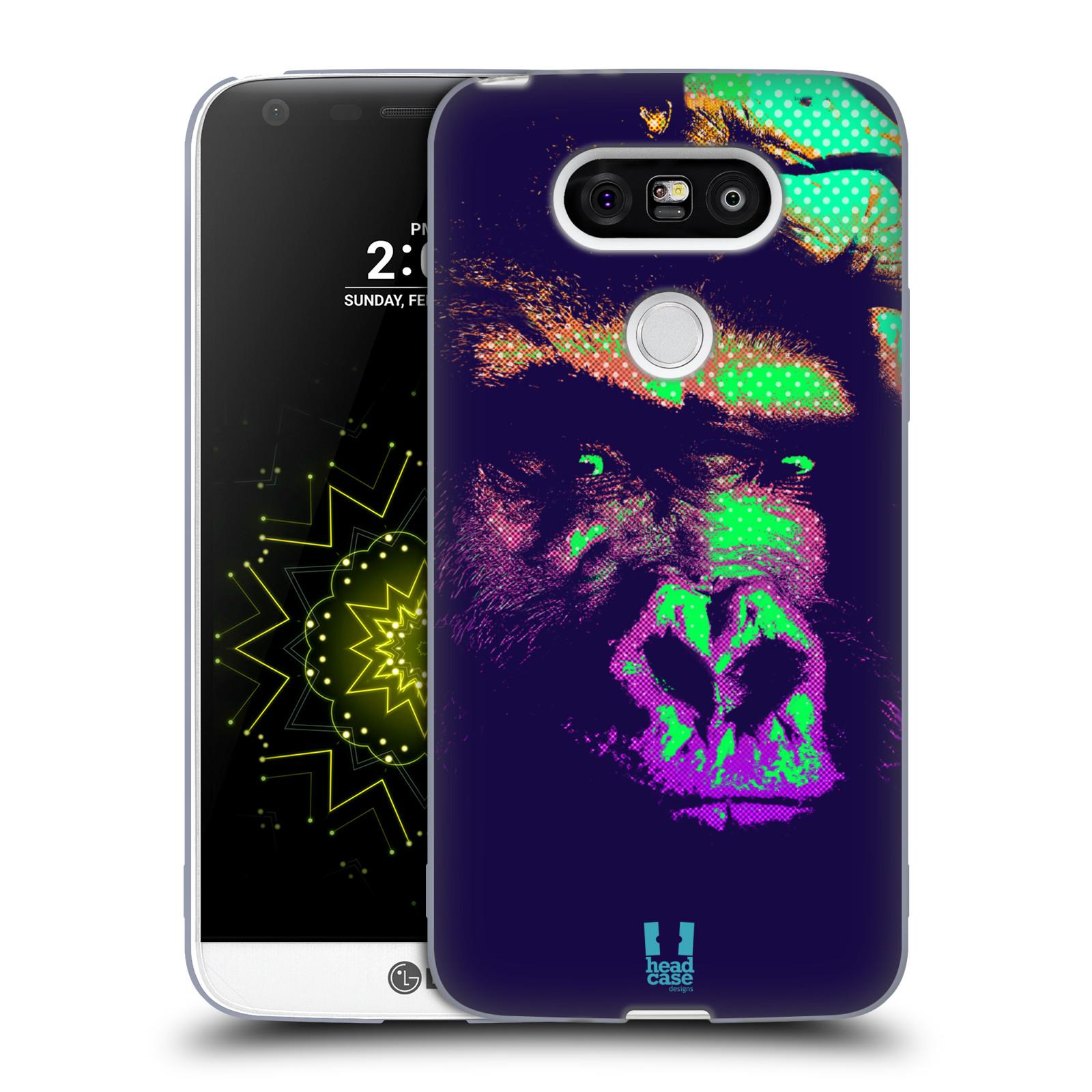 Silikonové pouzdro na mobil LG G5 HEAD CASE POP PRINT GORILA (Silikonový kryt či obal na mobilní telefon LG G5 H850)