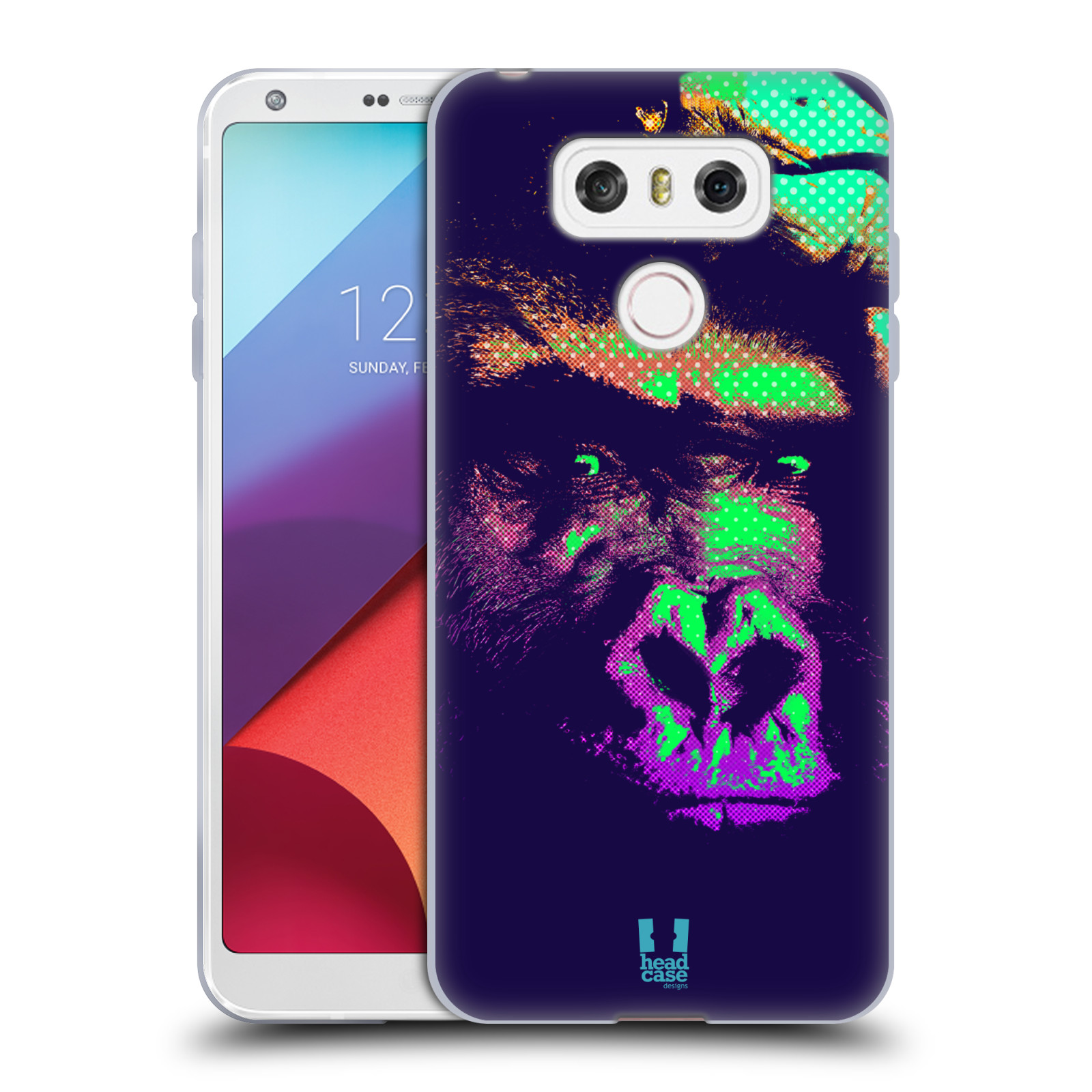Silikonové pouzdro na mobil LG G6 - Head Case POP PRINT GORILA (Silikonový kryt či obal na mobilní telefon LG G6 H870 / LG G6 Dual SIM H870DS)