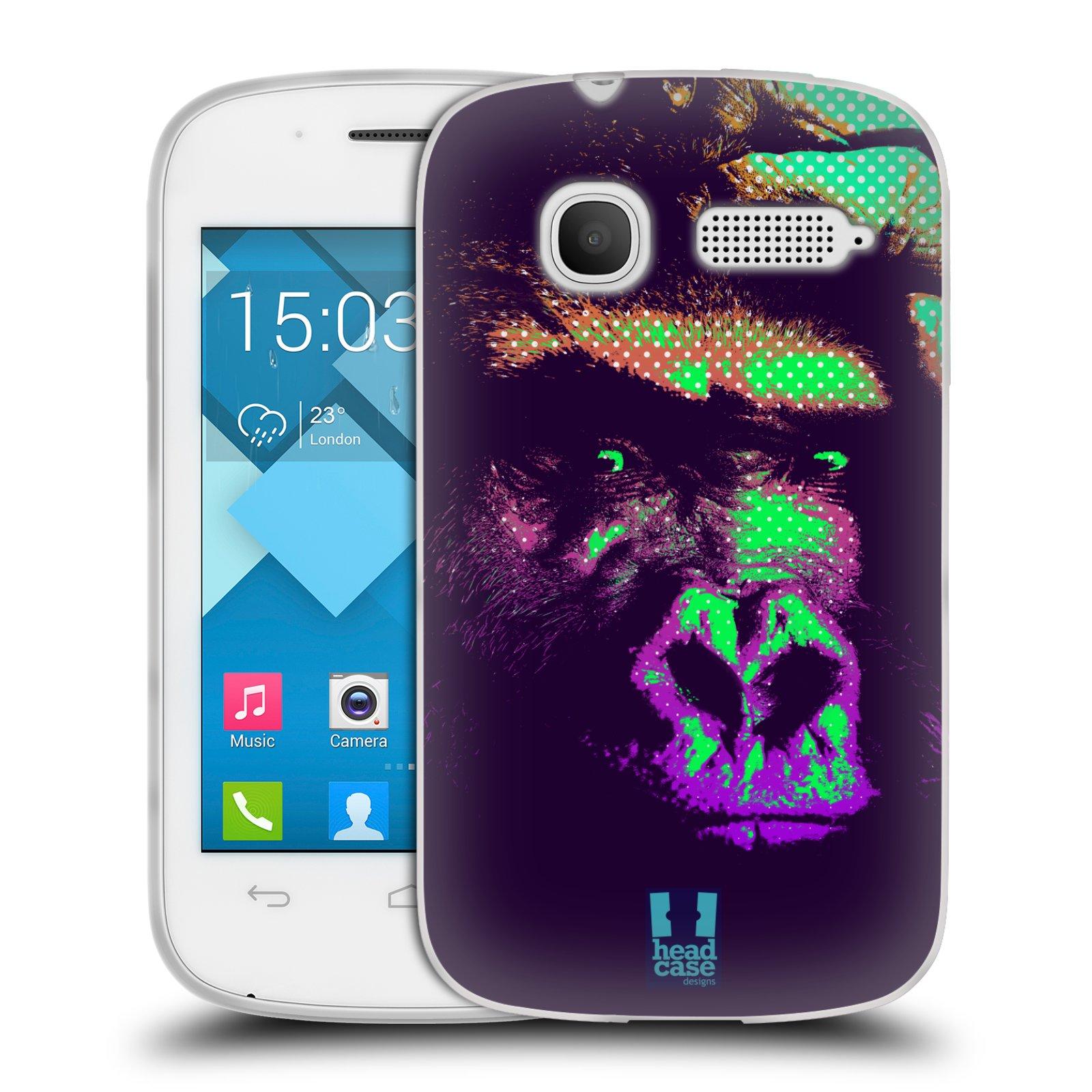 Silikonové pouzdro na mobil Alcatel One Touch Pop C1 HEAD CASE POP PRINT GORILA (Silikonový kryt či obal na mobilní telefon Alcatel OT-4015D POP C1)