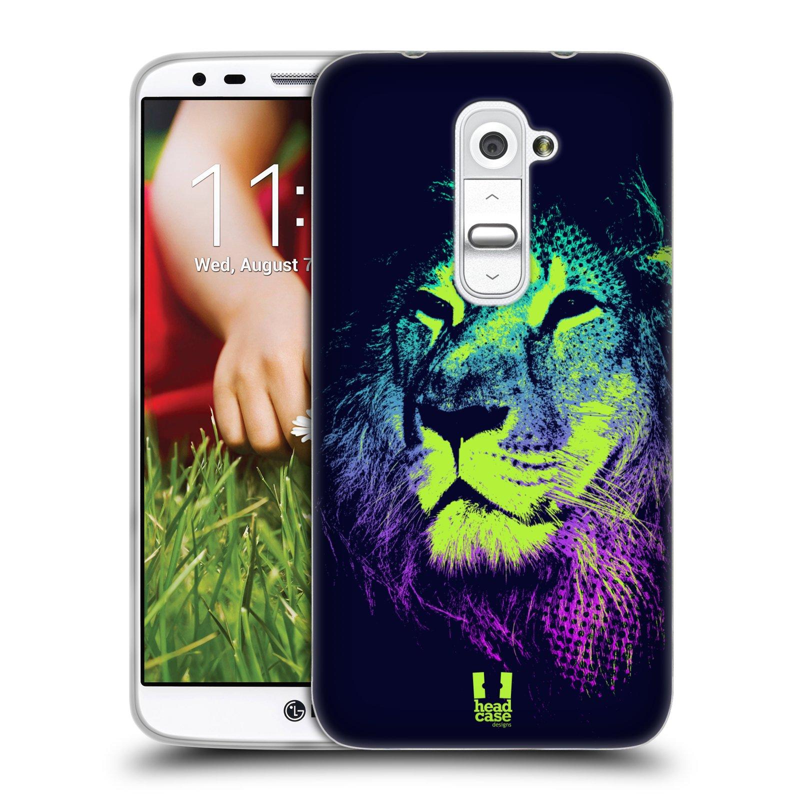 Silikonové pouzdro na mobil LG G2 HEAD CASE POP PRINT LEV (Silikonový kryt či obal na mobilní telefon LG G2 D802)