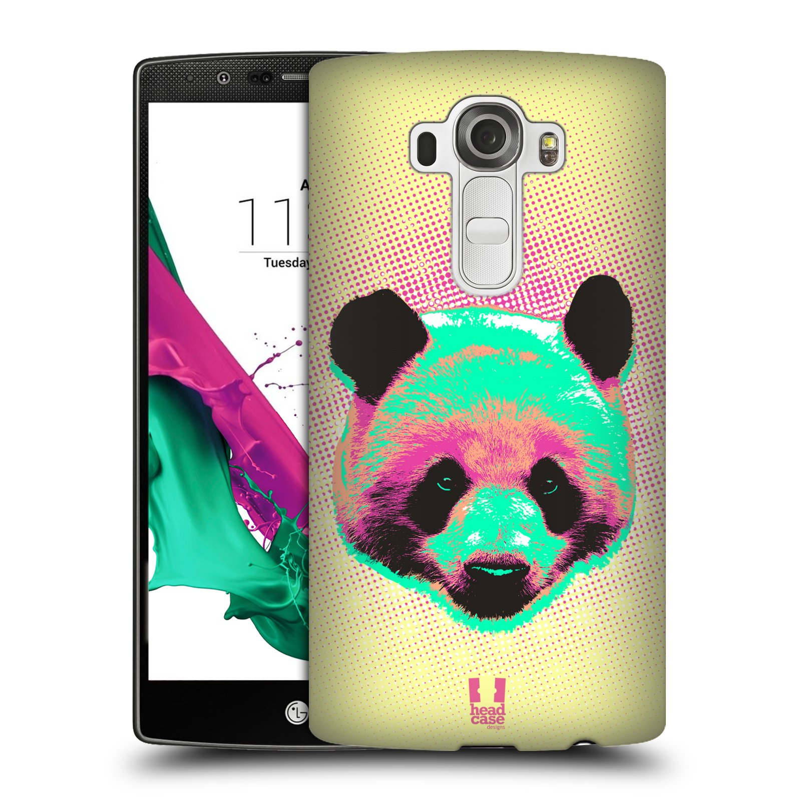 Plastové pouzdro na mobil LG G4 HEAD CASE POP PRINT PANDA (Kryt či obal na mobilní telefon LG G4 H815)