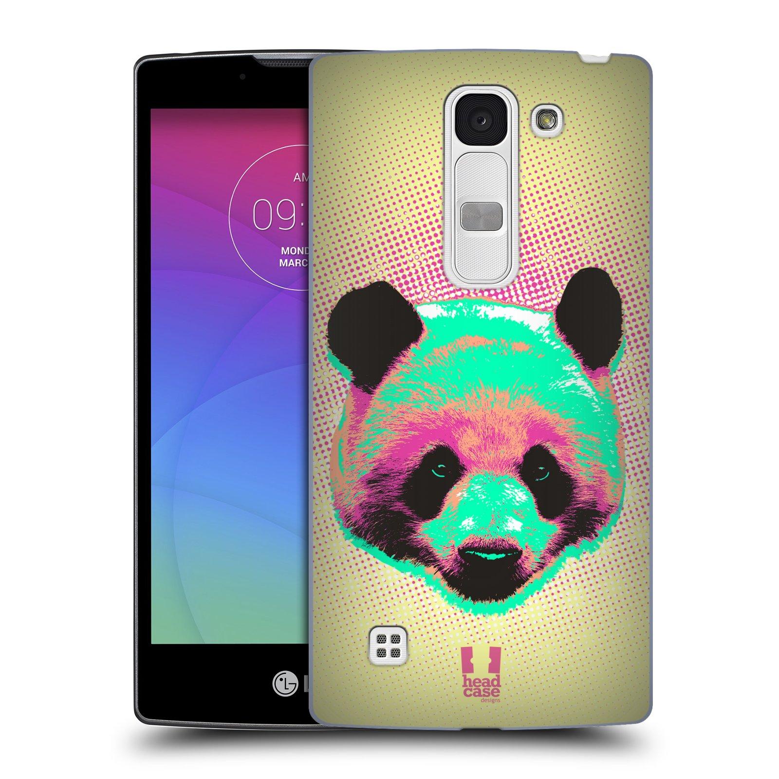 Plastové pouzdro na mobil LG Spirit LTE HEAD CASE POP PRINT PANDA (Kryt či obal na mobilní telefon LG Spirit H420 a LG Spirit LTE H440N)