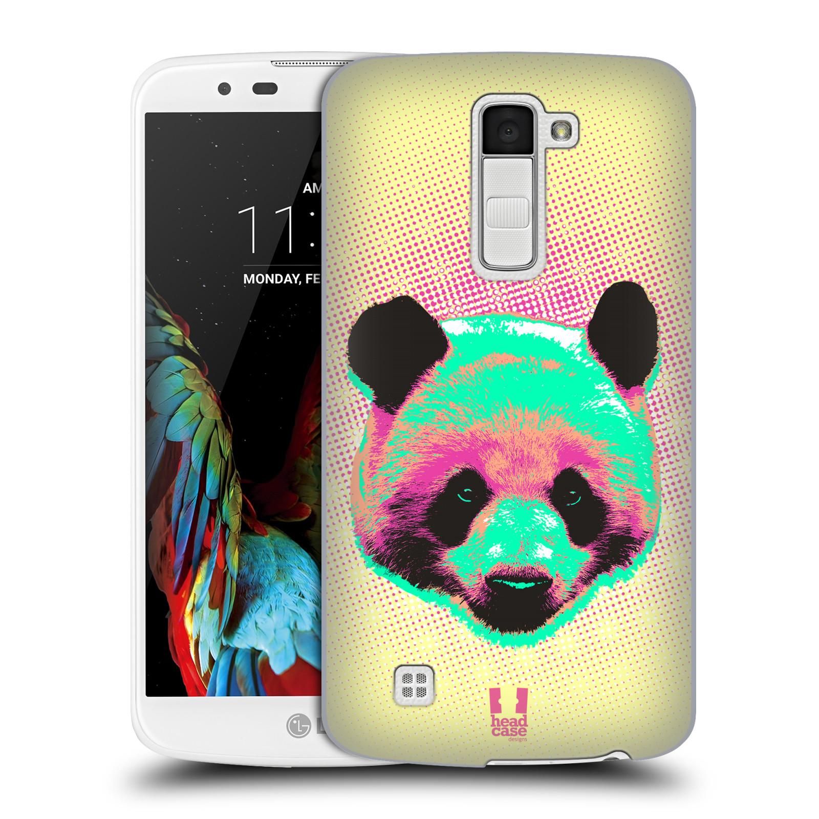 Plastové pouzdro na mobil LG K10 HEAD CASE POP PRINT PANDA (Kryt či obal na mobilní telefon LG K10)